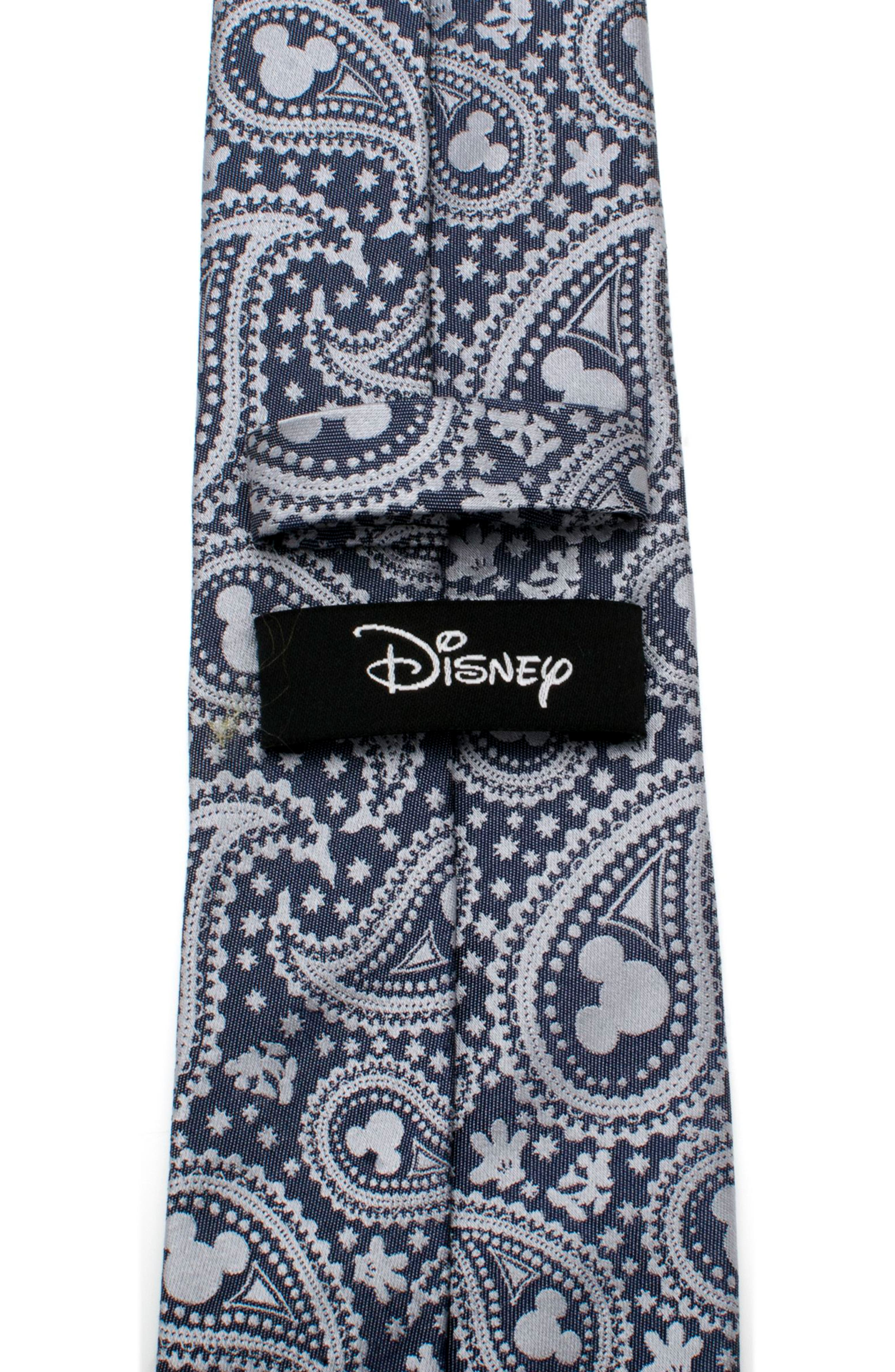 Mickey Mouse Paisley Silk Tie,                             Alternate thumbnail 5, color,                             BLUE/ GREY