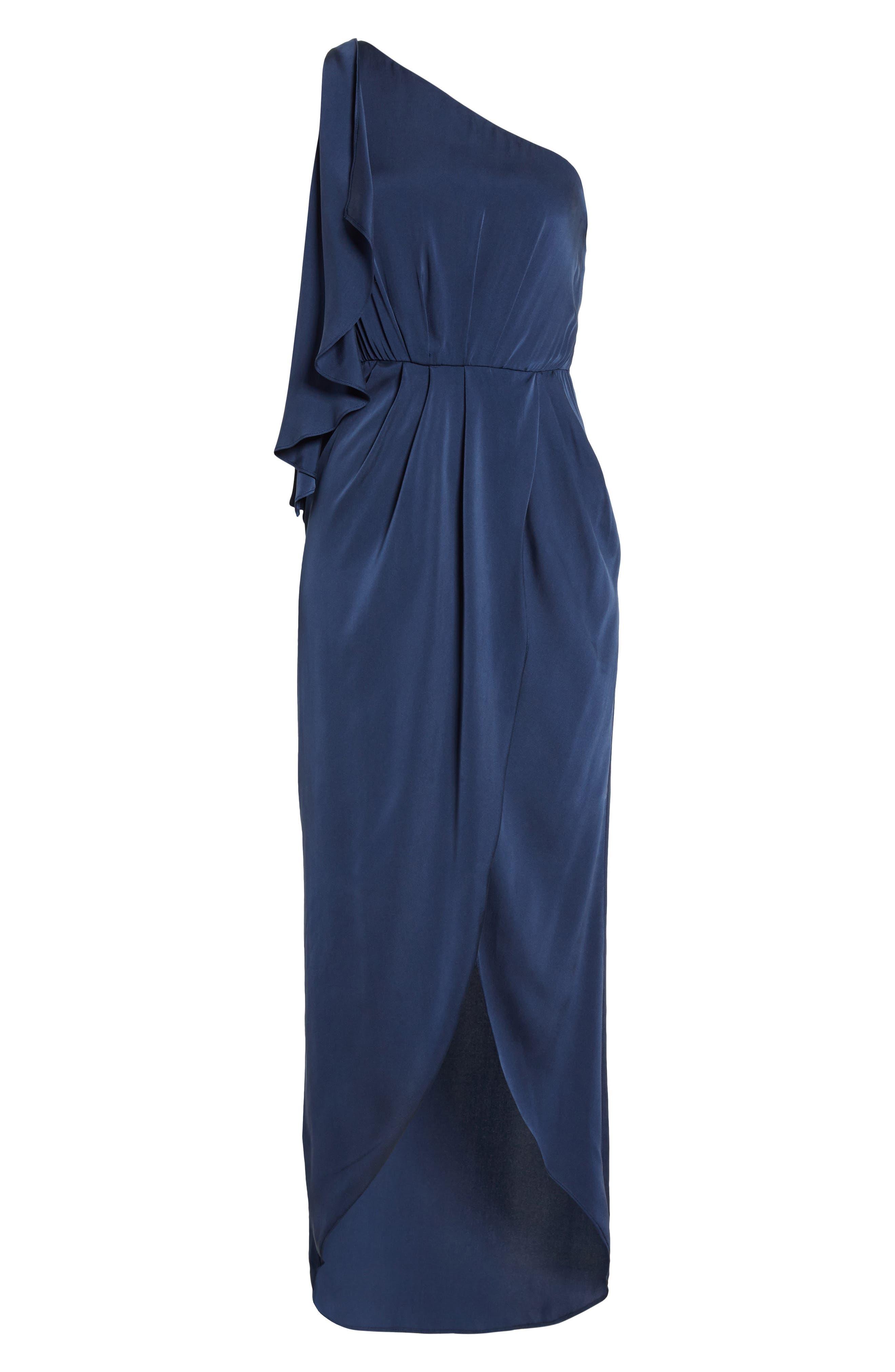 Oleta Side Drape Goddess Dress,                             Alternate thumbnail 6, color,                             460
