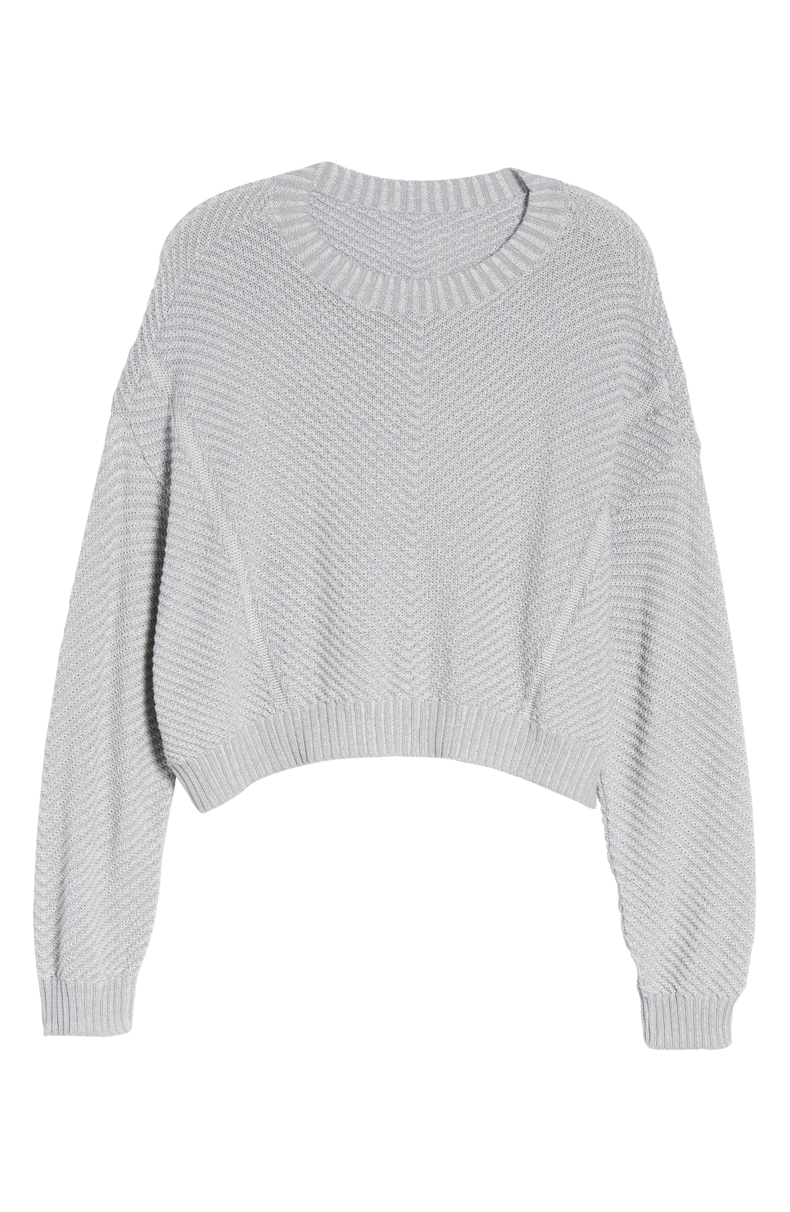 Plaited Drop Shoulder Sweater,                             Alternate thumbnail 11, color,