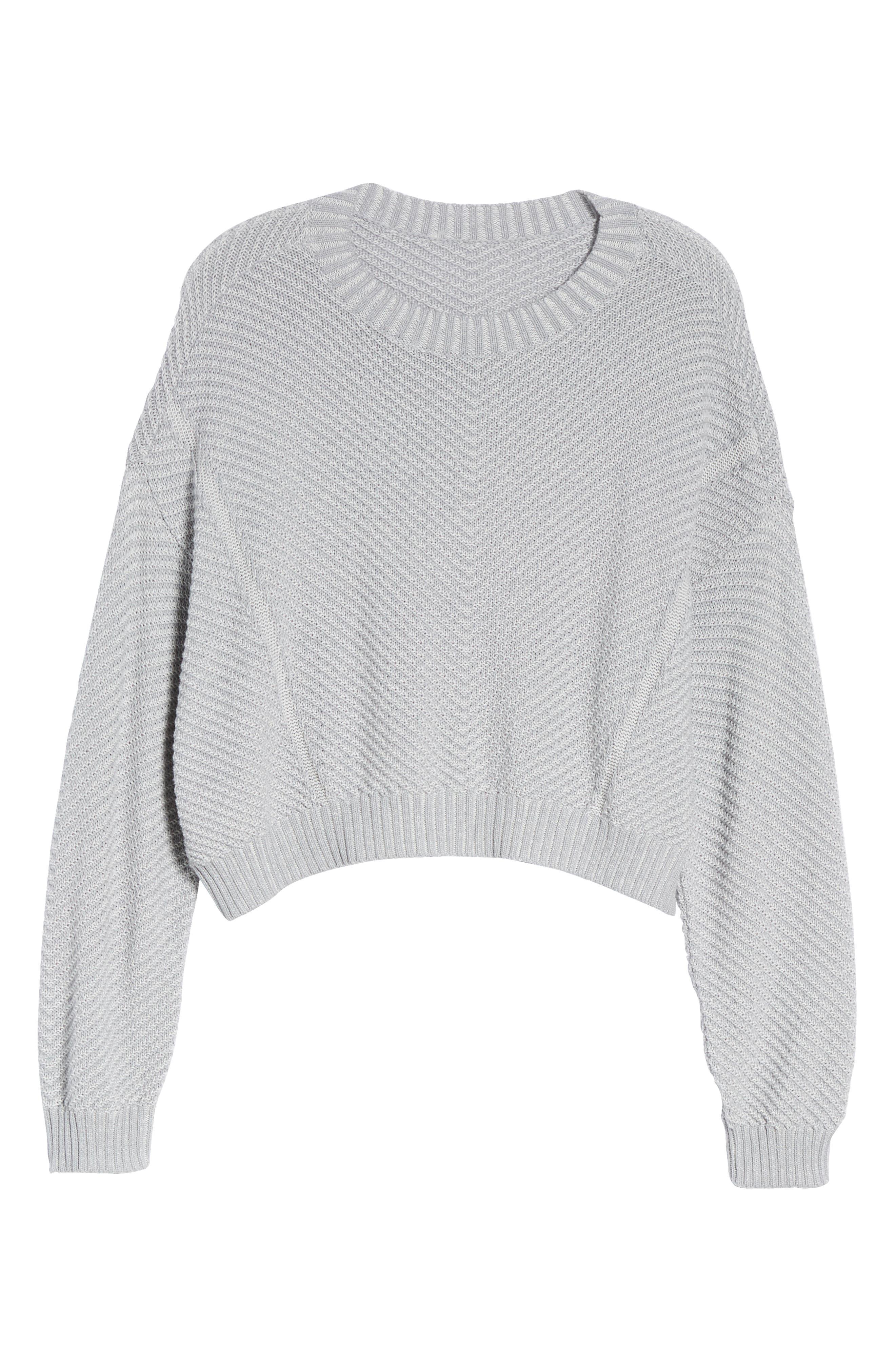 Plaited Drop Shoulder Sweater,                             Alternate thumbnail 7, color,                             050
