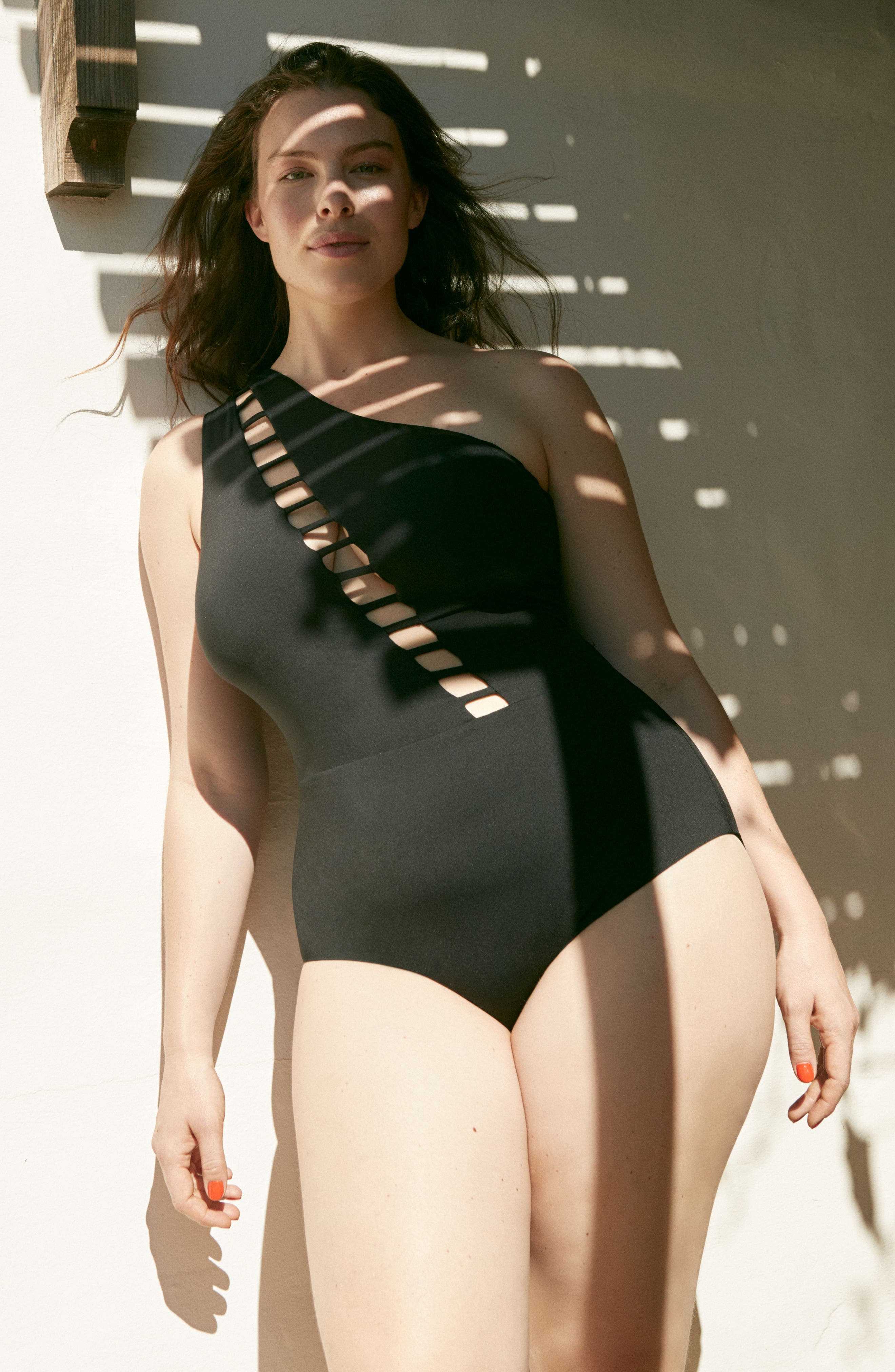 Becca Etc Making the Cut One-Piece Swimsuit,                             Alternate thumbnail 7, color,                             001