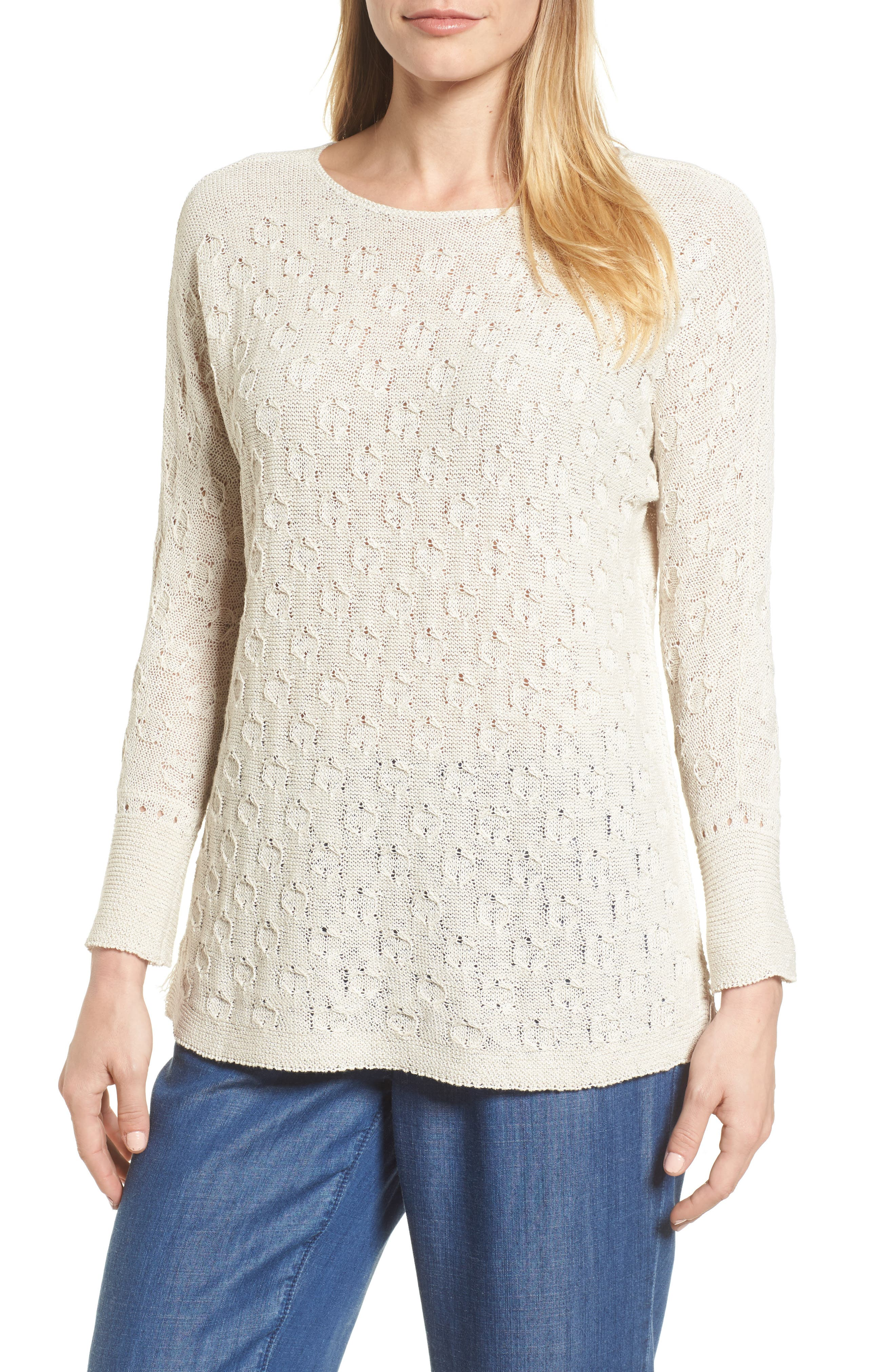 Stitched Dot Top,                         Main,                         color,