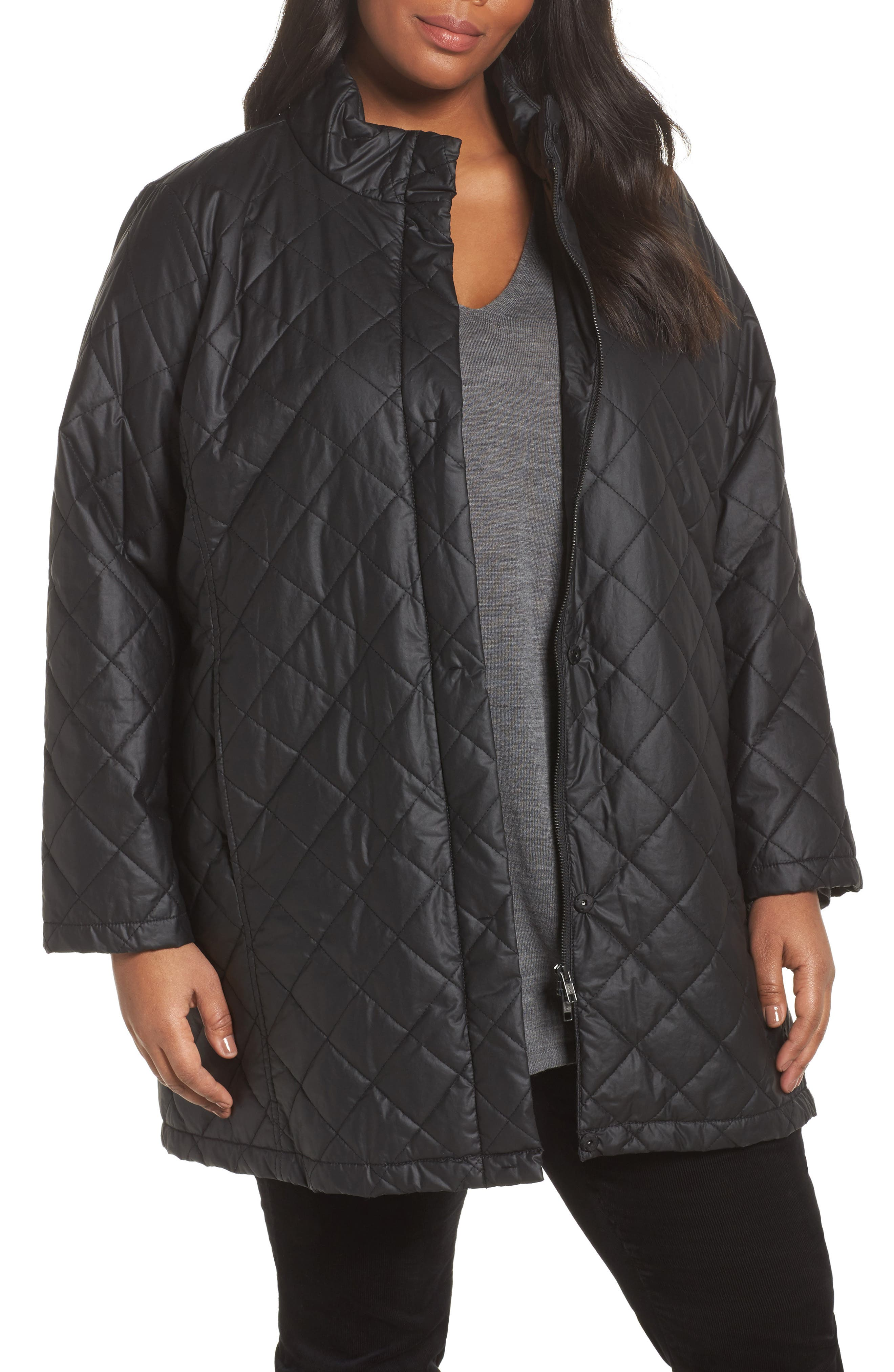 Quilted Jacket,                             Main thumbnail 1, color,                             001