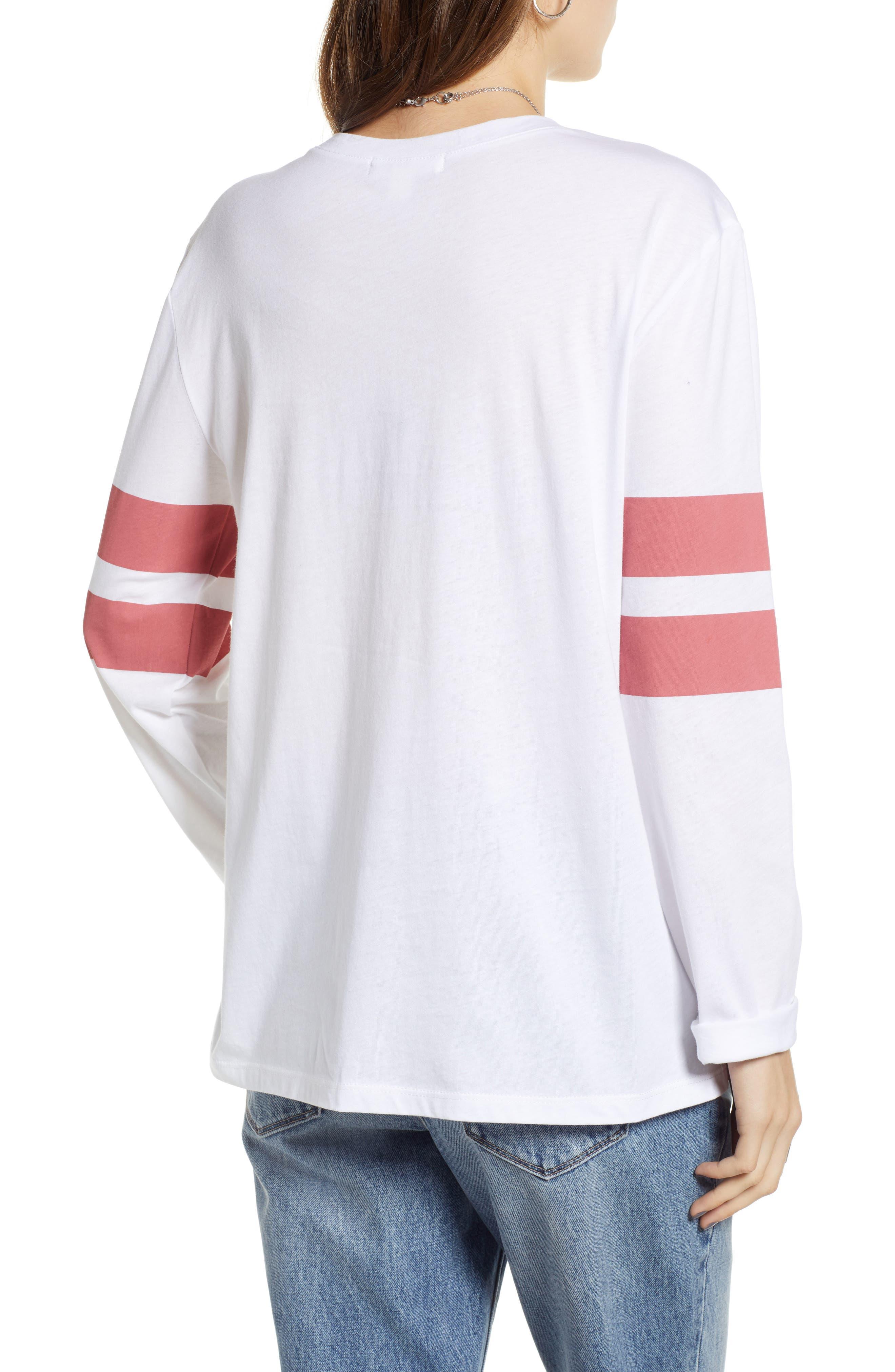 Varsity Stripe Tee,                             Alternate thumbnail 2, color,                             WHITE- RED BAROQUE COMBO