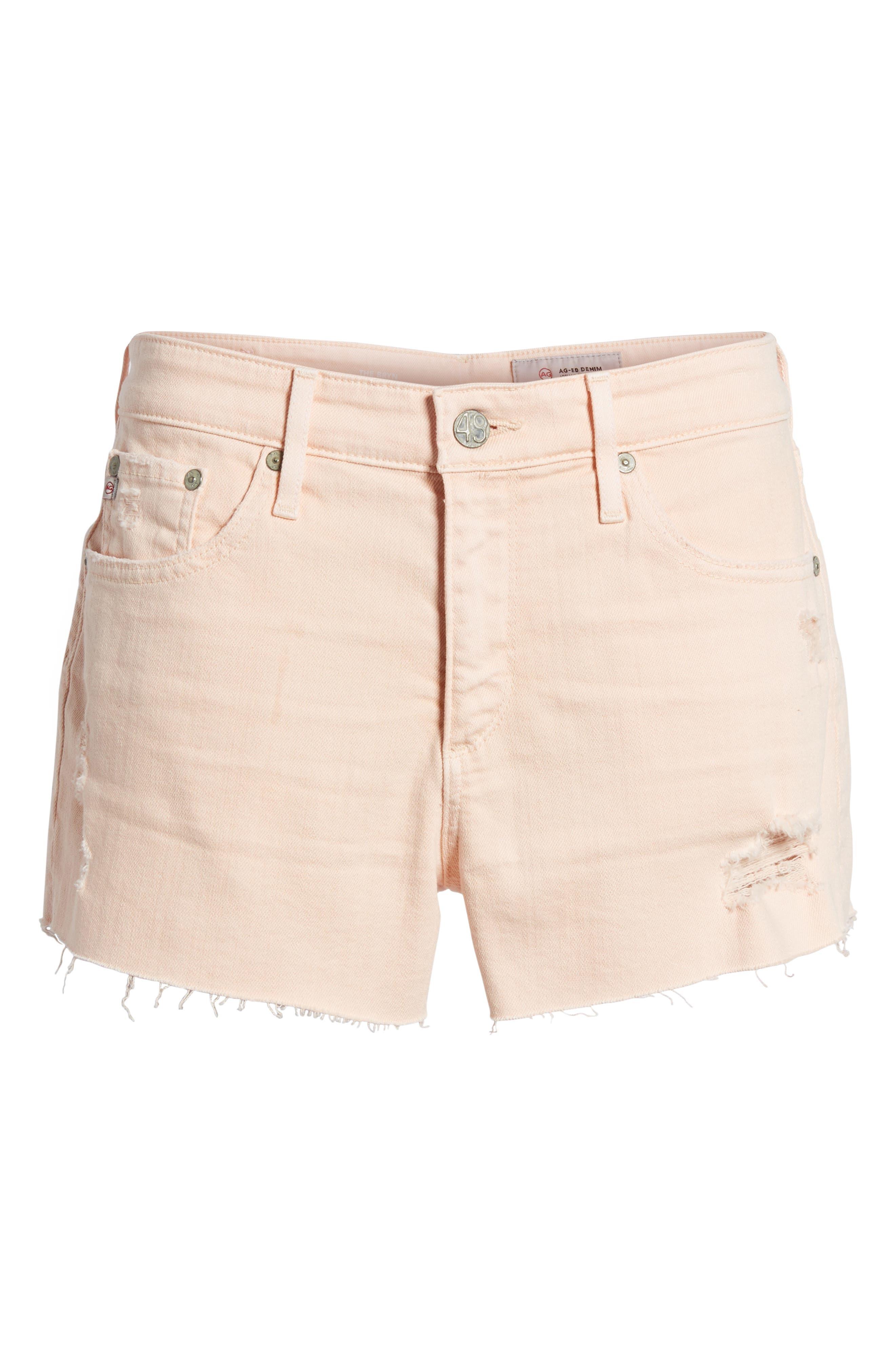 The Bryn High Waist Cutoff Denim Shorts,                             Alternate thumbnail 19, color,