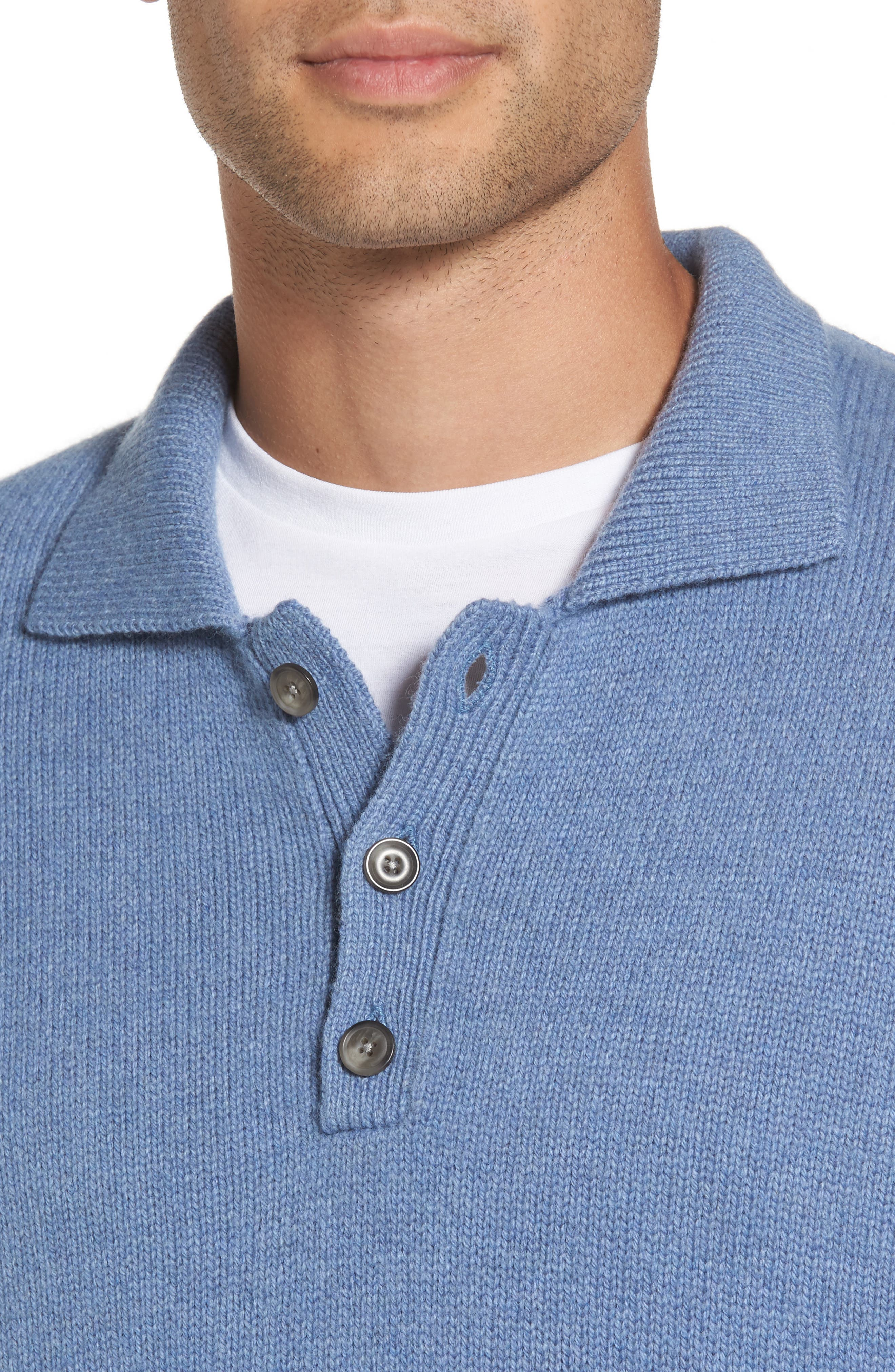 VINCE,                             Wool & Cashmere Polo Sweater,                             Alternate thumbnail 4, color,                             495