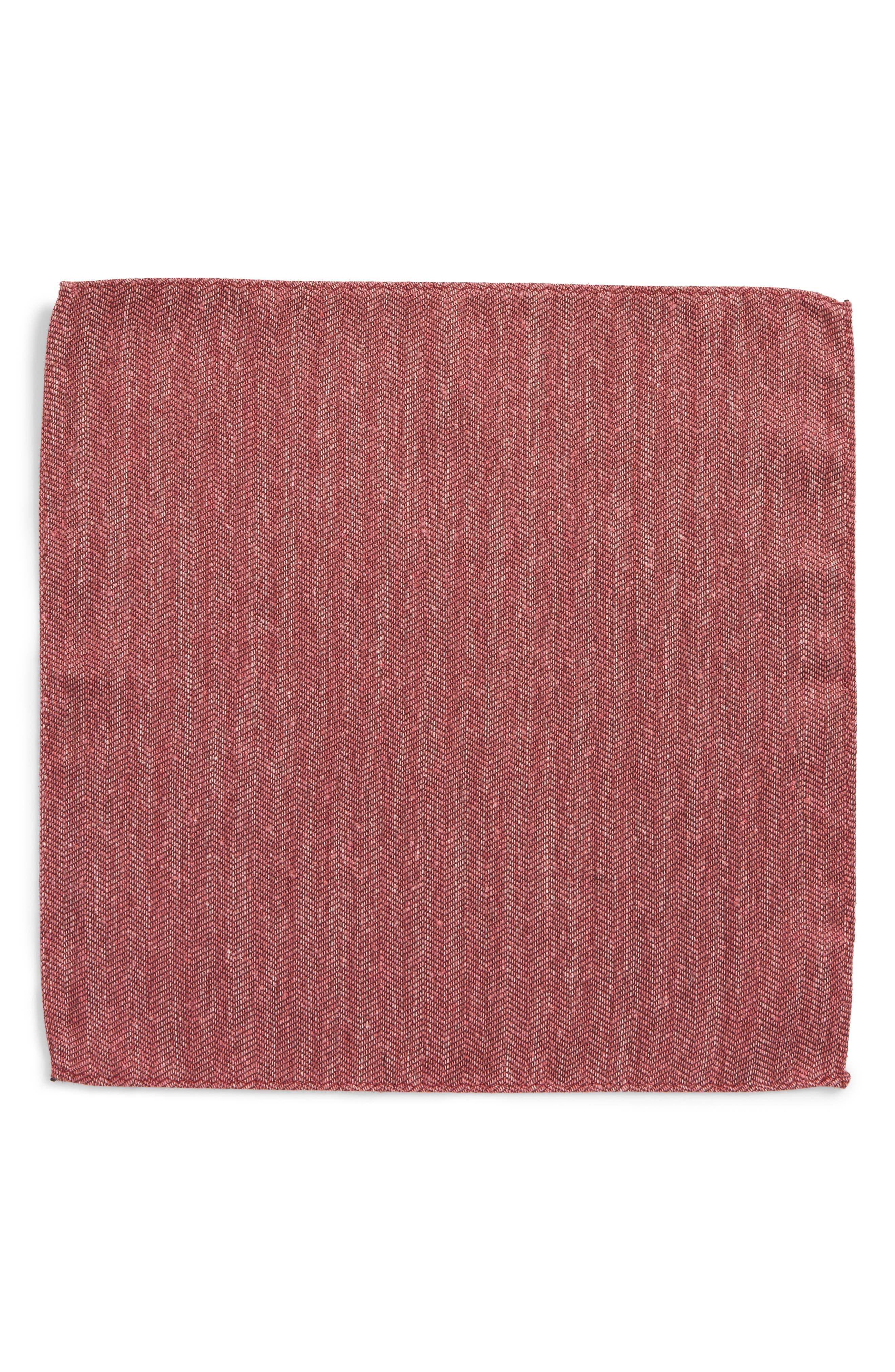 Threaded Zigzag Silk Pocket Square,                             Alternate thumbnail 6, color,