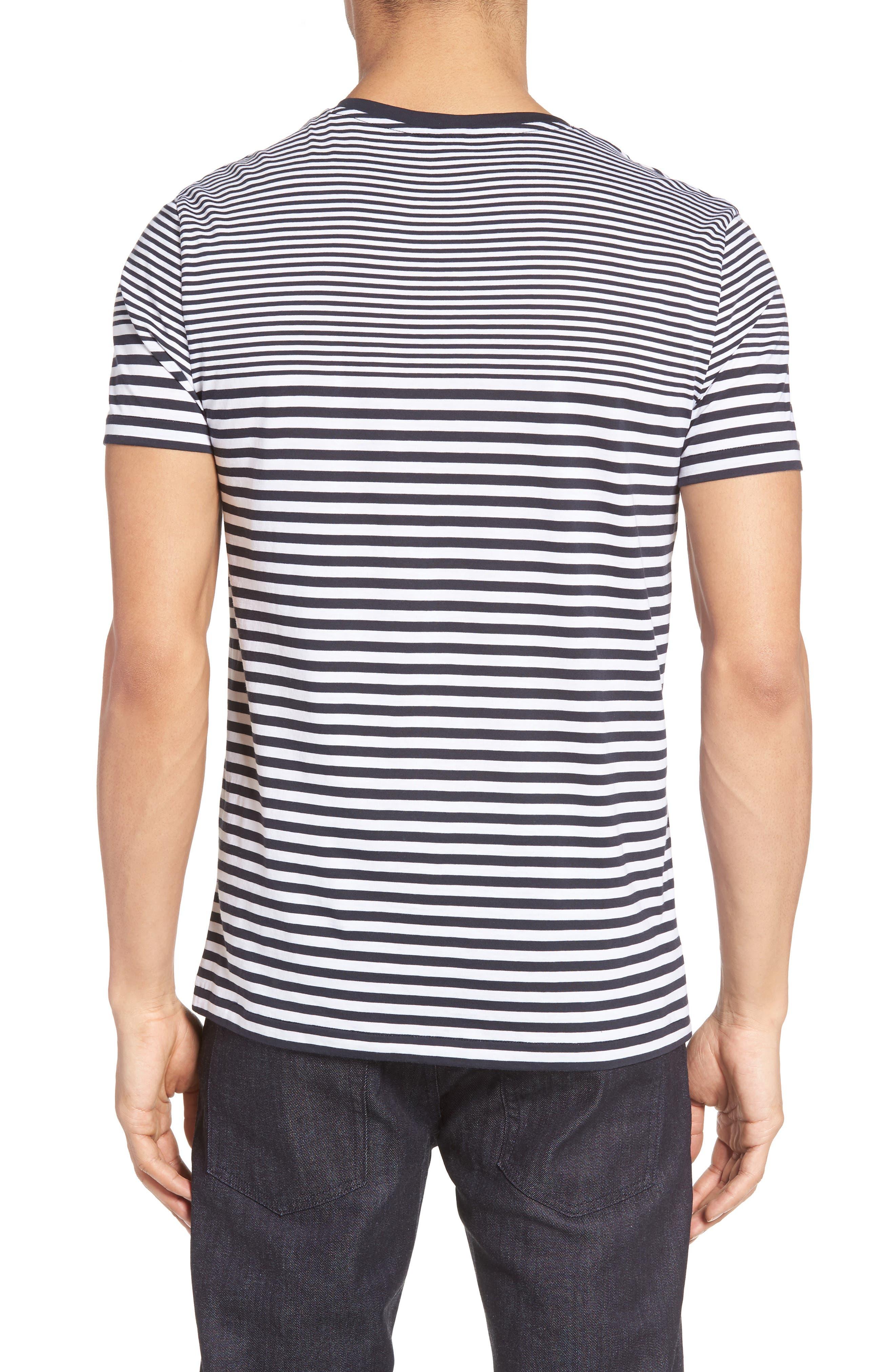Tessler Slim Fit Stripe T-Shirt,                             Alternate thumbnail 4, color,