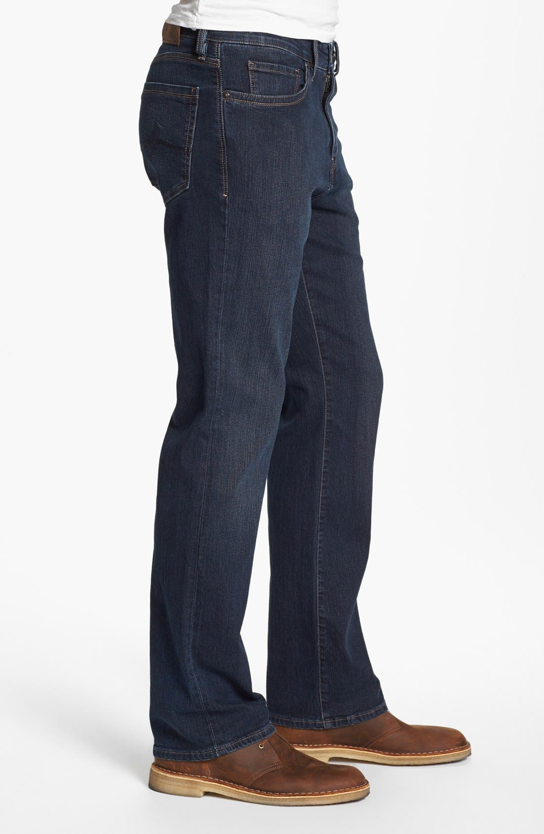 Charisma Relaxed Fit Jeans,                             Alternate thumbnail 4, color,                             DARK COMFORT