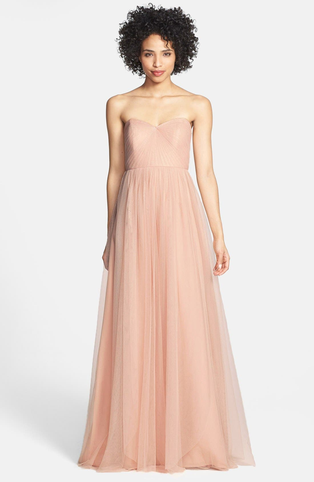 Annabelle Convertible Tulle Column Dress,                             Main thumbnail 9, color,