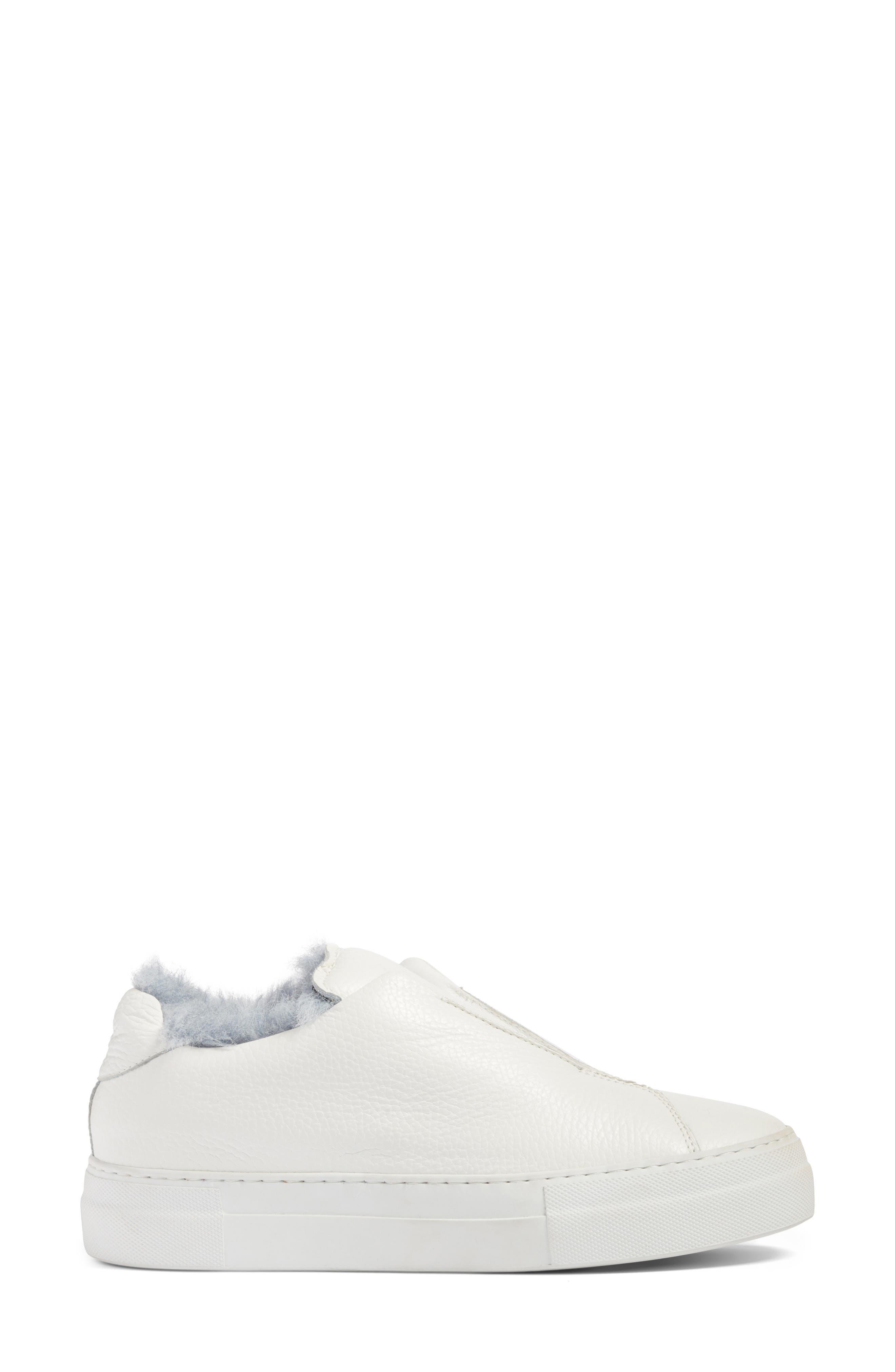 Faux Fur Slip-On Sneaker,                             Alternate thumbnail 5, color,