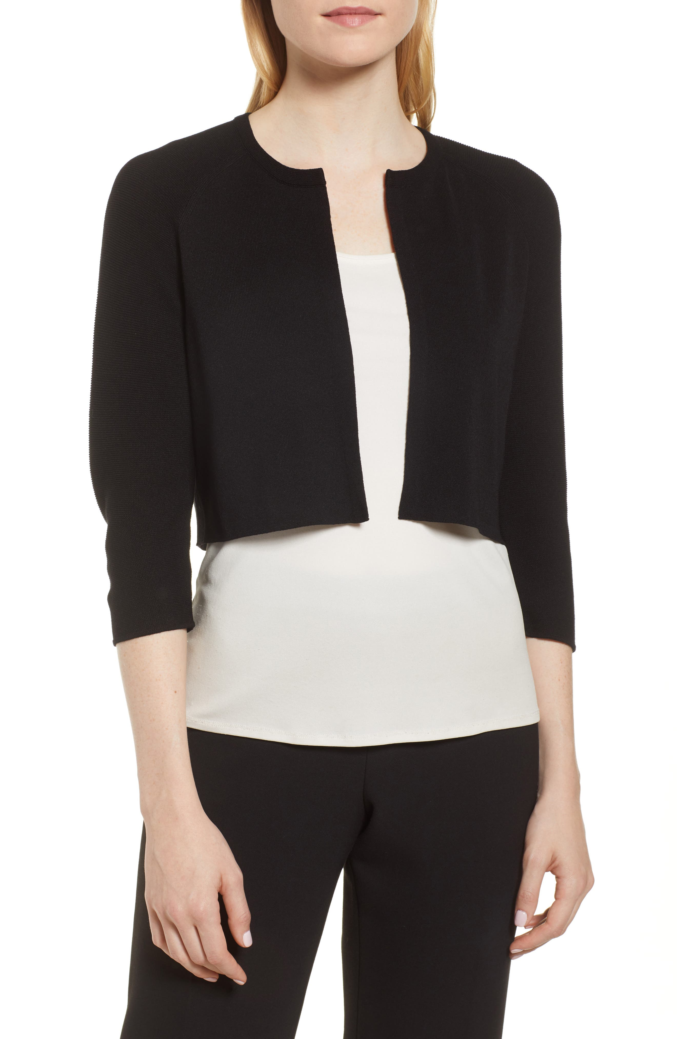 Fatildi Bolero Cardigan,                         Main,                         color, BLACK