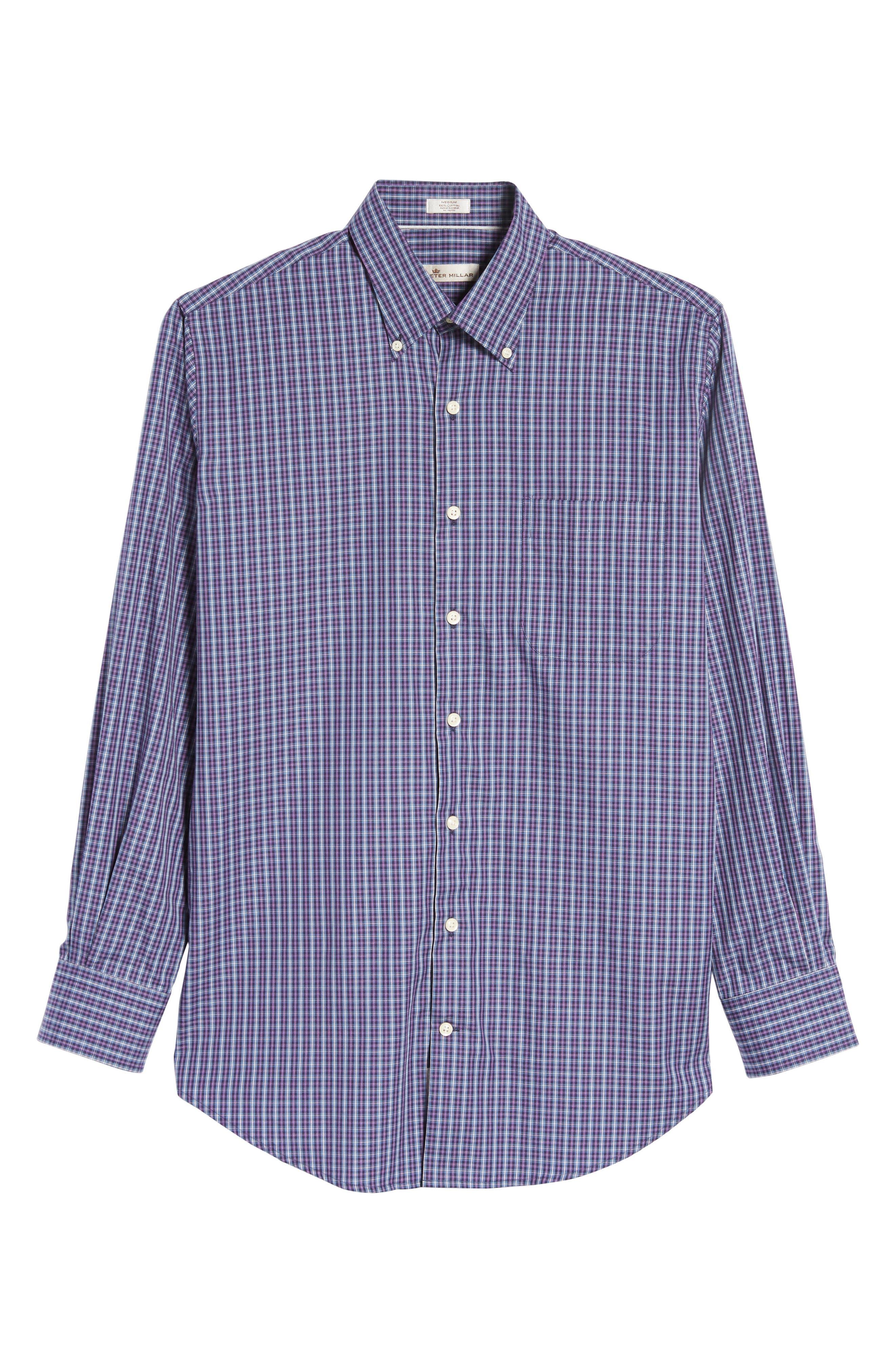 Hillock Regular Fit Plaid Sport Shirt,                             Alternate thumbnail 6, color,