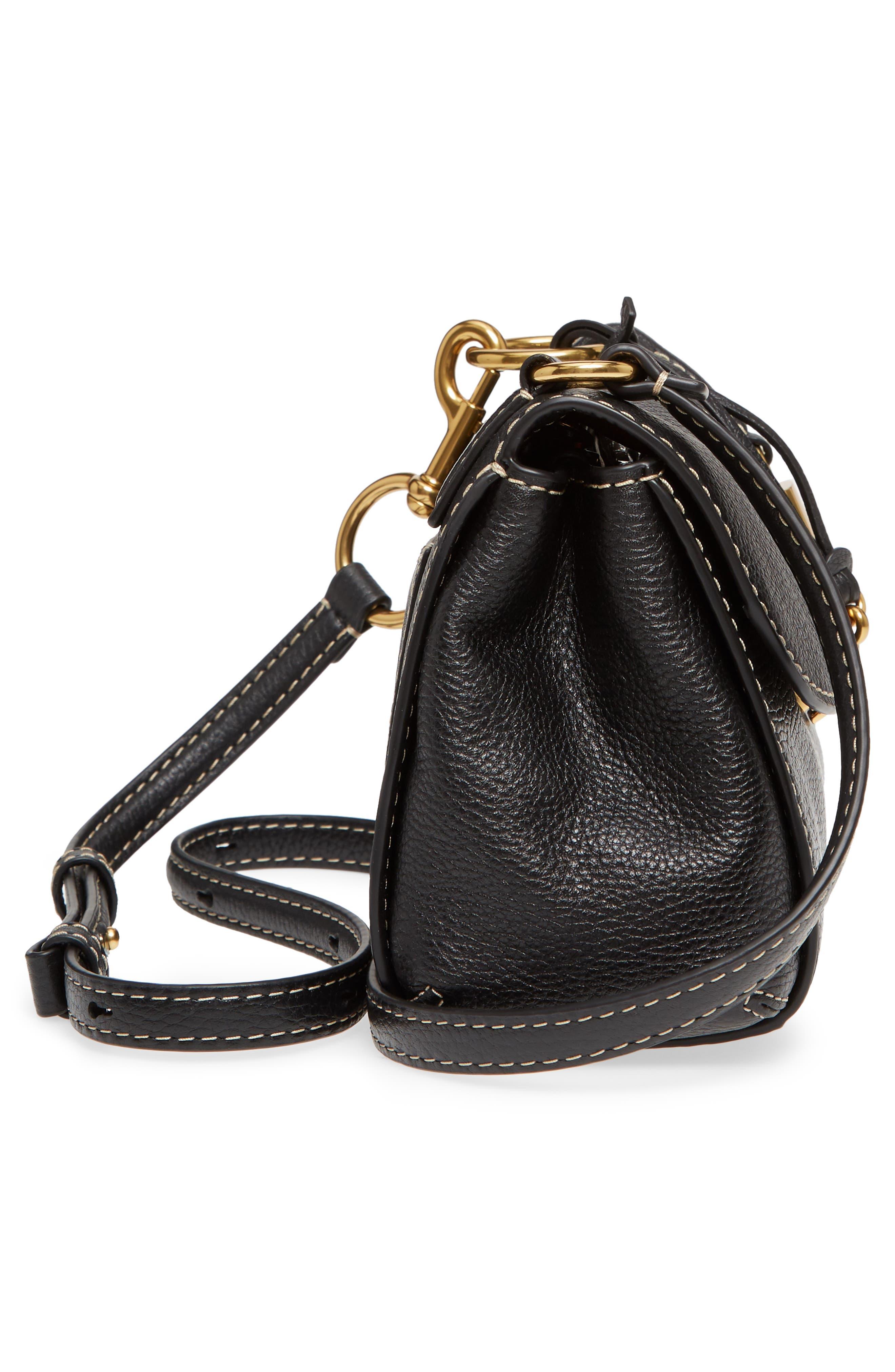 Mini The Boho Grind Leather Shoulder Bag,                             Alternate thumbnail 5, color,                             014