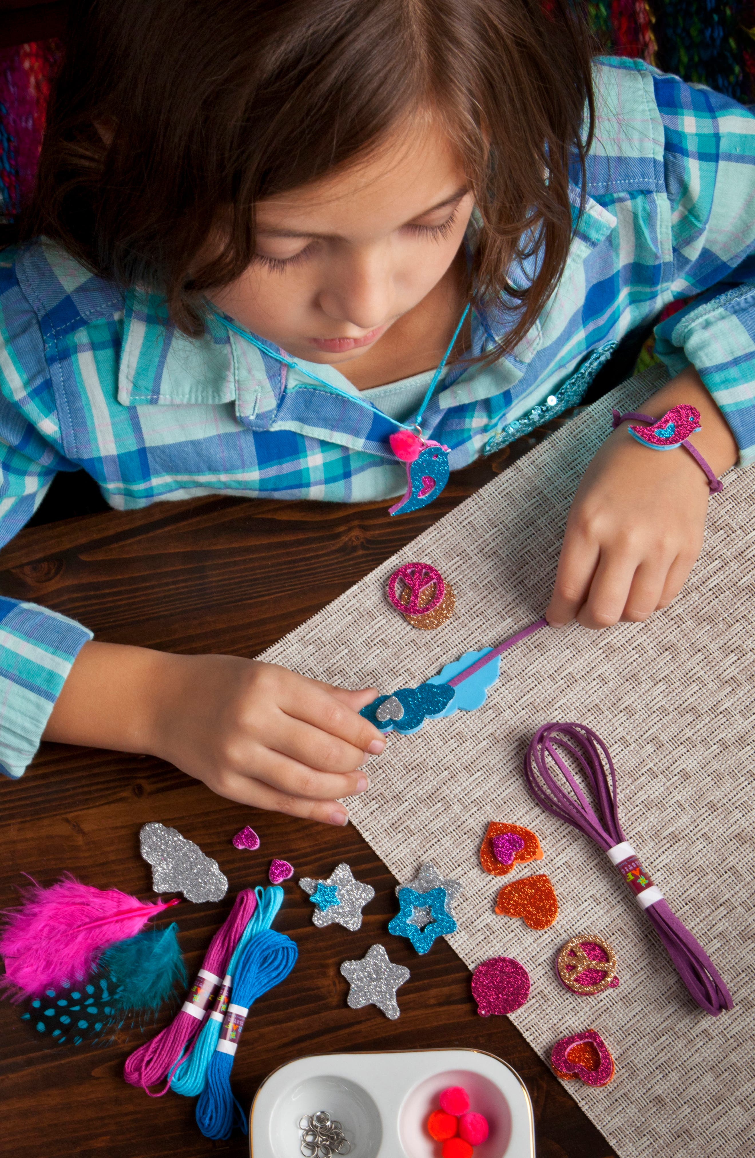 Make & Give Glitter Jewelry Kit,                             Alternate thumbnail 4, color,                             960