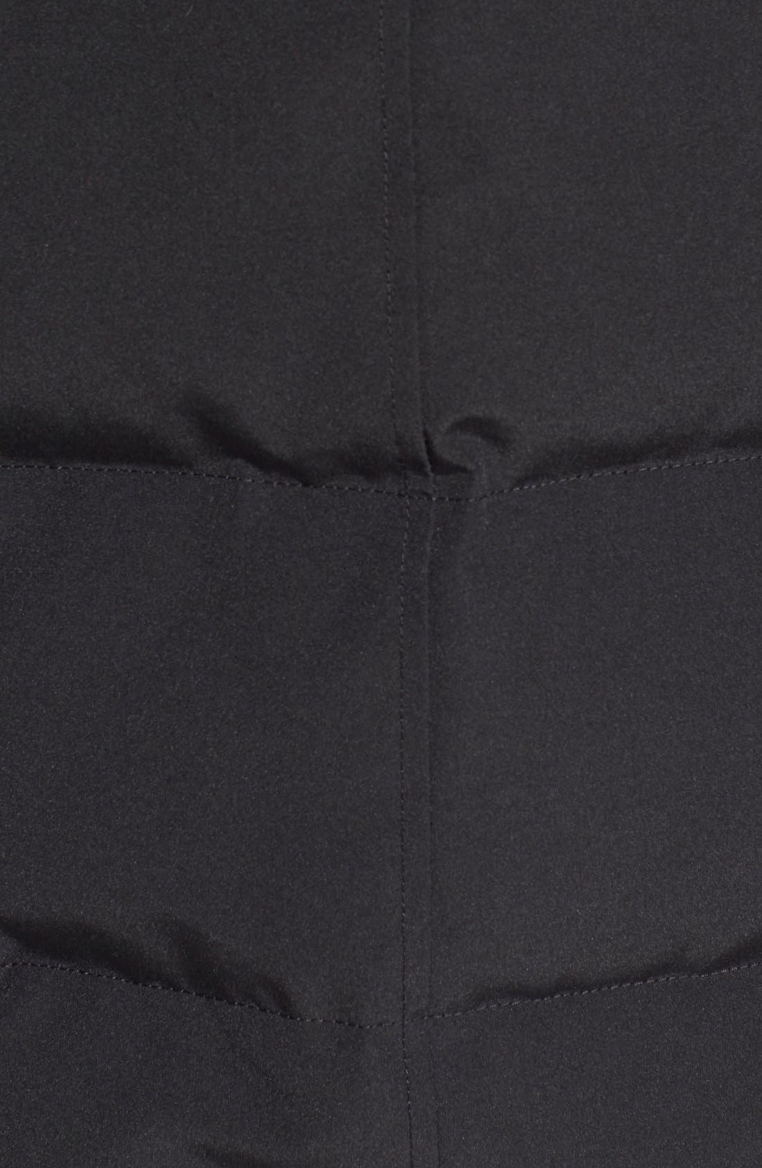 'MacMillan' Slim Fit Hooded Parka,                             Alternate thumbnail 6, color,                             BLACK