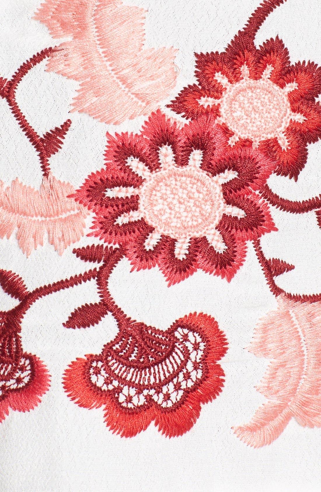 'Cecelia' Cold Shoulder Crop Top,                             Alternate thumbnail 5, color,                             100