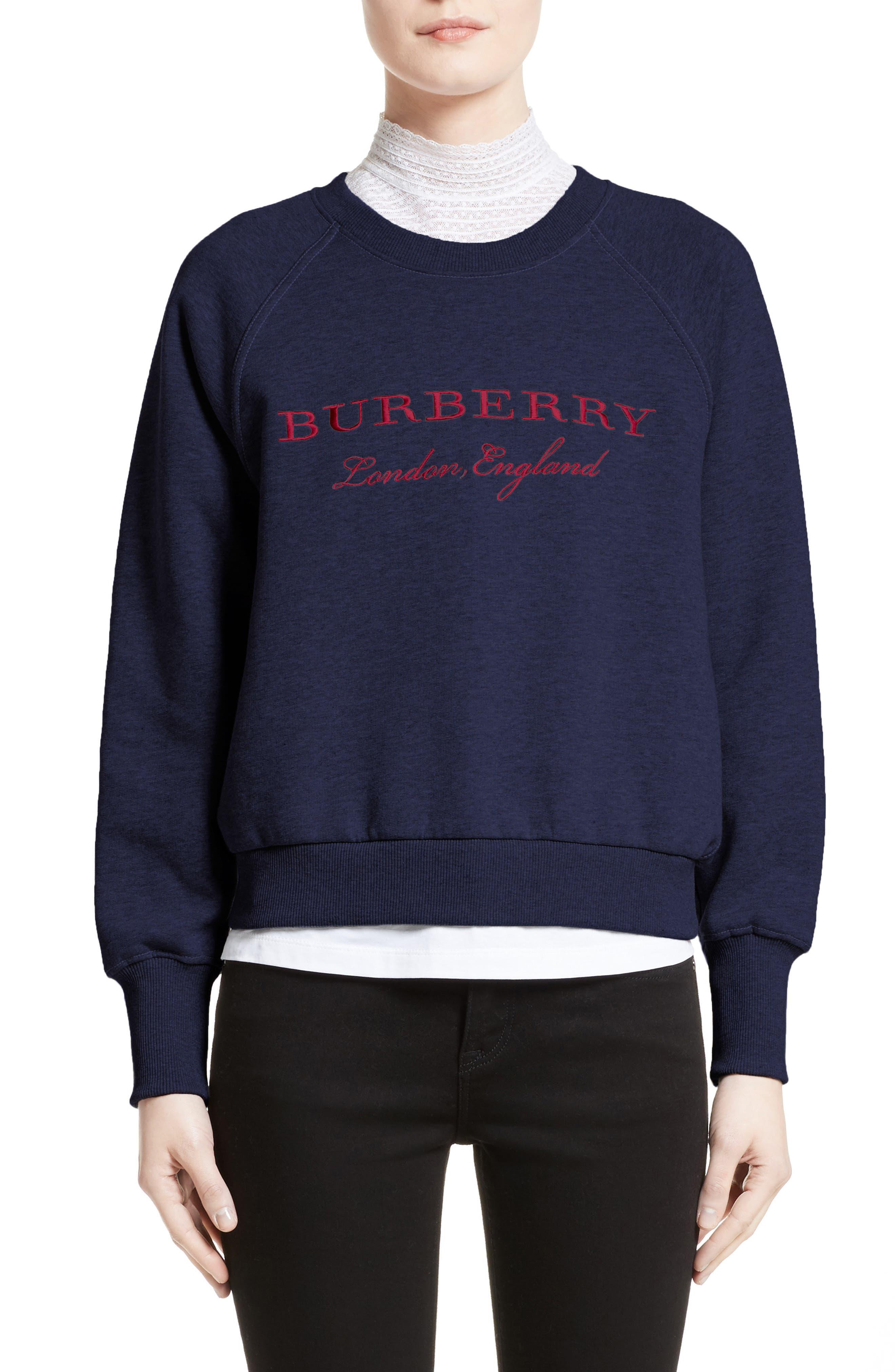 Burberry Torto Embroidered Sweatshirt, Blue