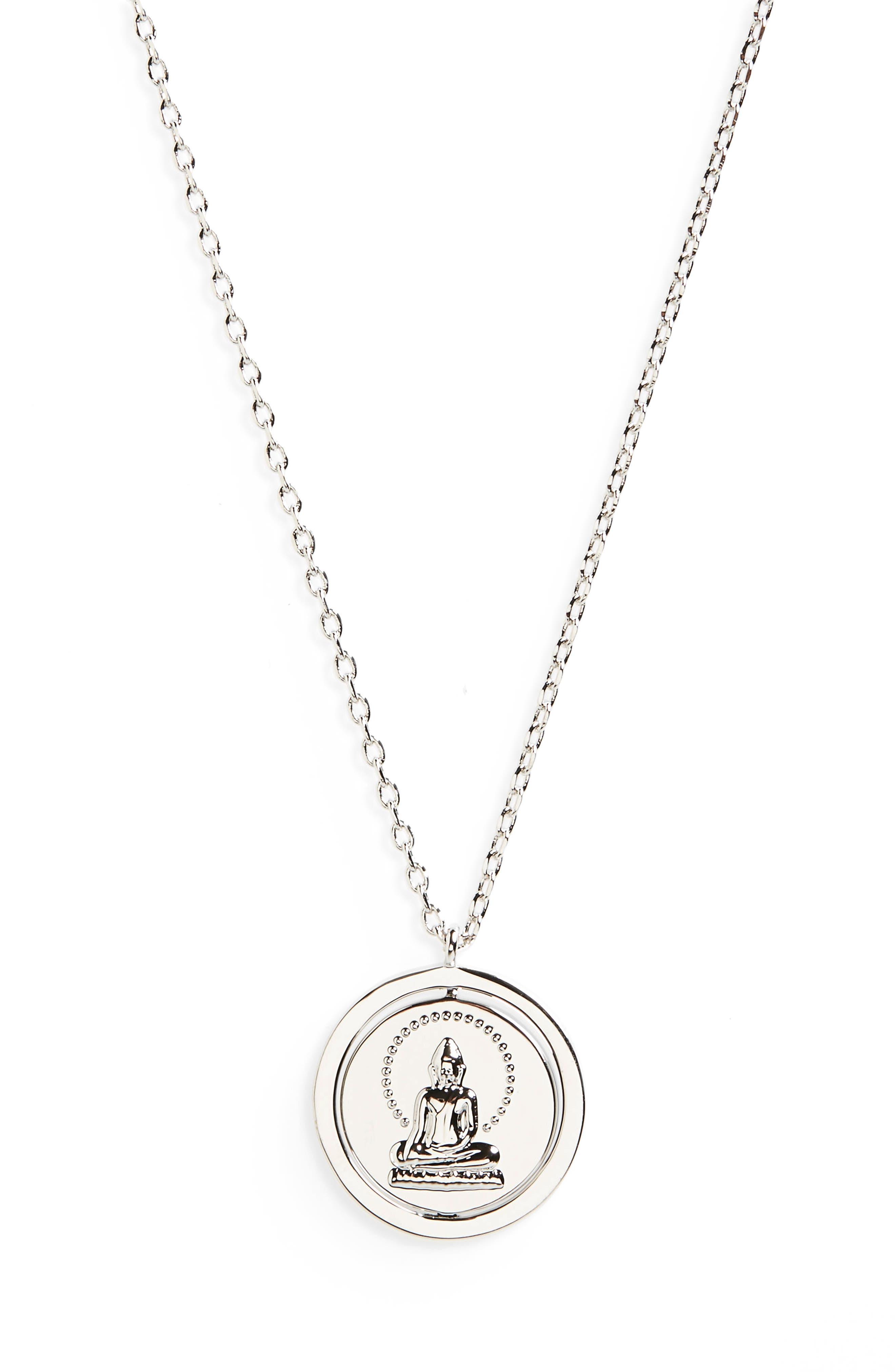 Breathe Love Letters Flip Pendant Necklace,                         Main,                         color,