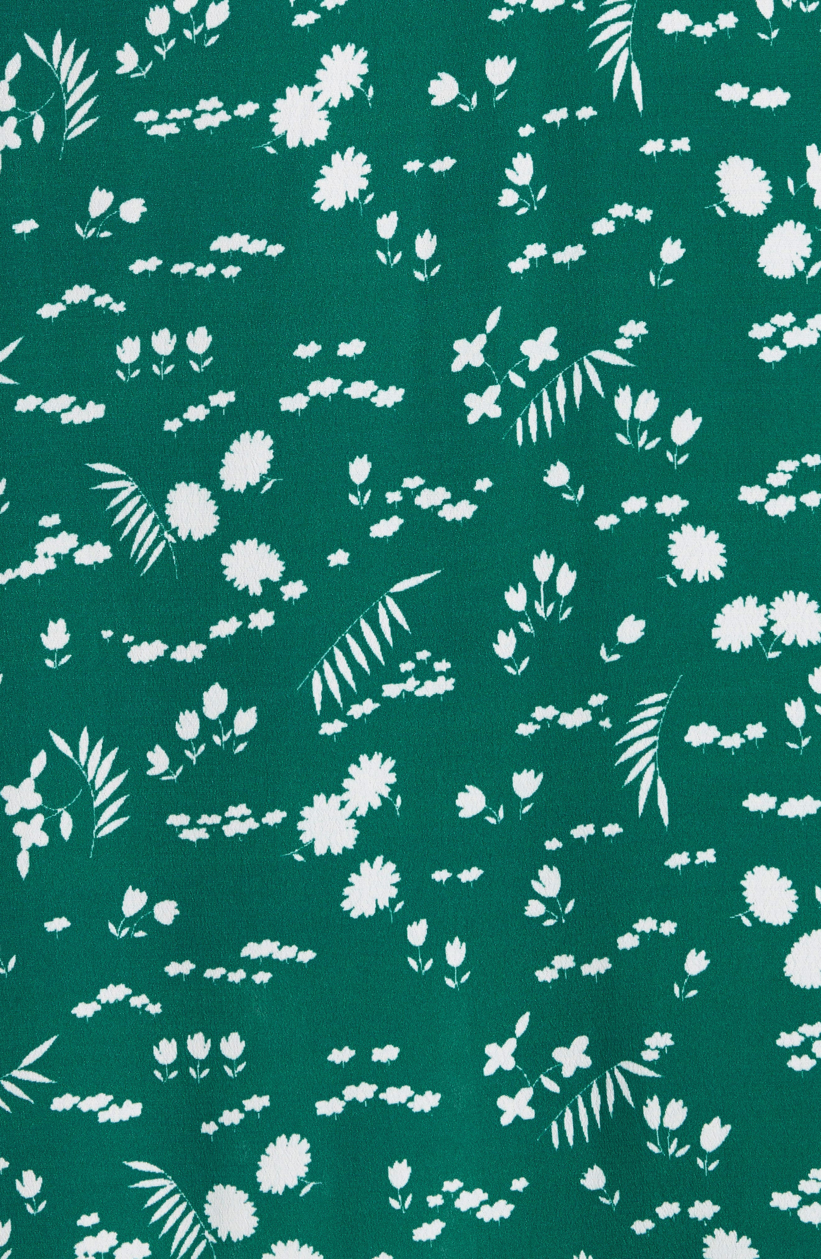 Floral High/Low Wrap Skirt,                             Alternate thumbnail 5, color,