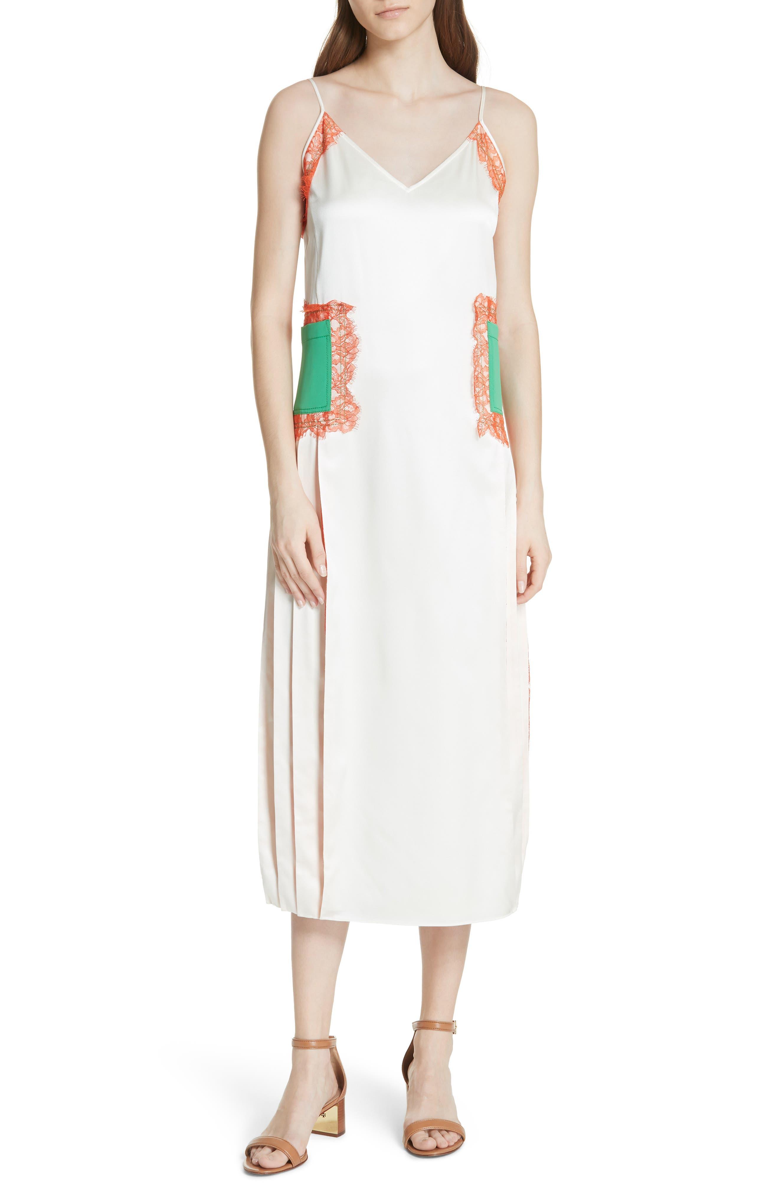 Claire Silk Midi Dress,                             Main thumbnail 1, color,                             104