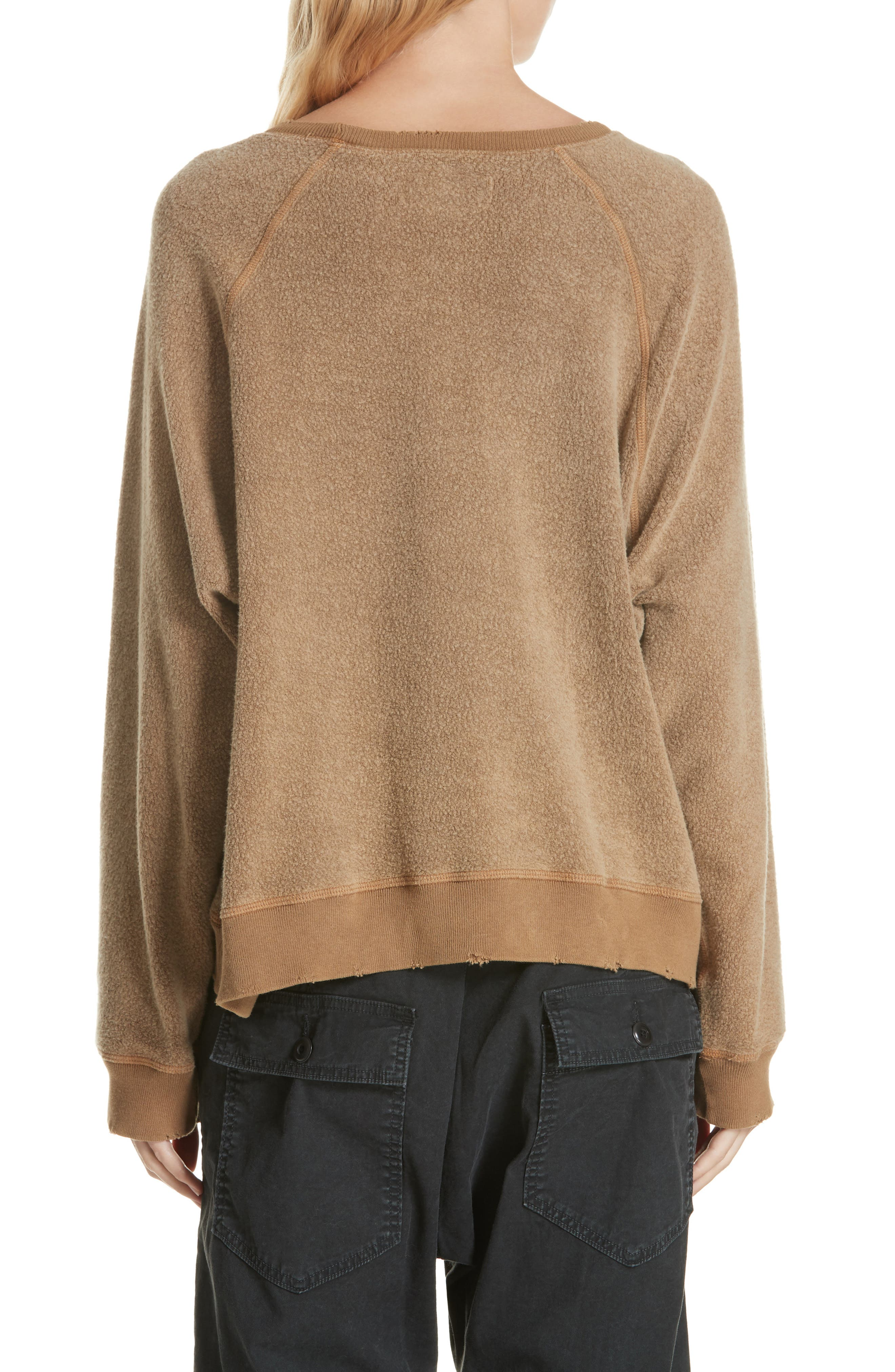 Slouch Sweatshirt,                             Alternate thumbnail 2, color,                             CAMEL