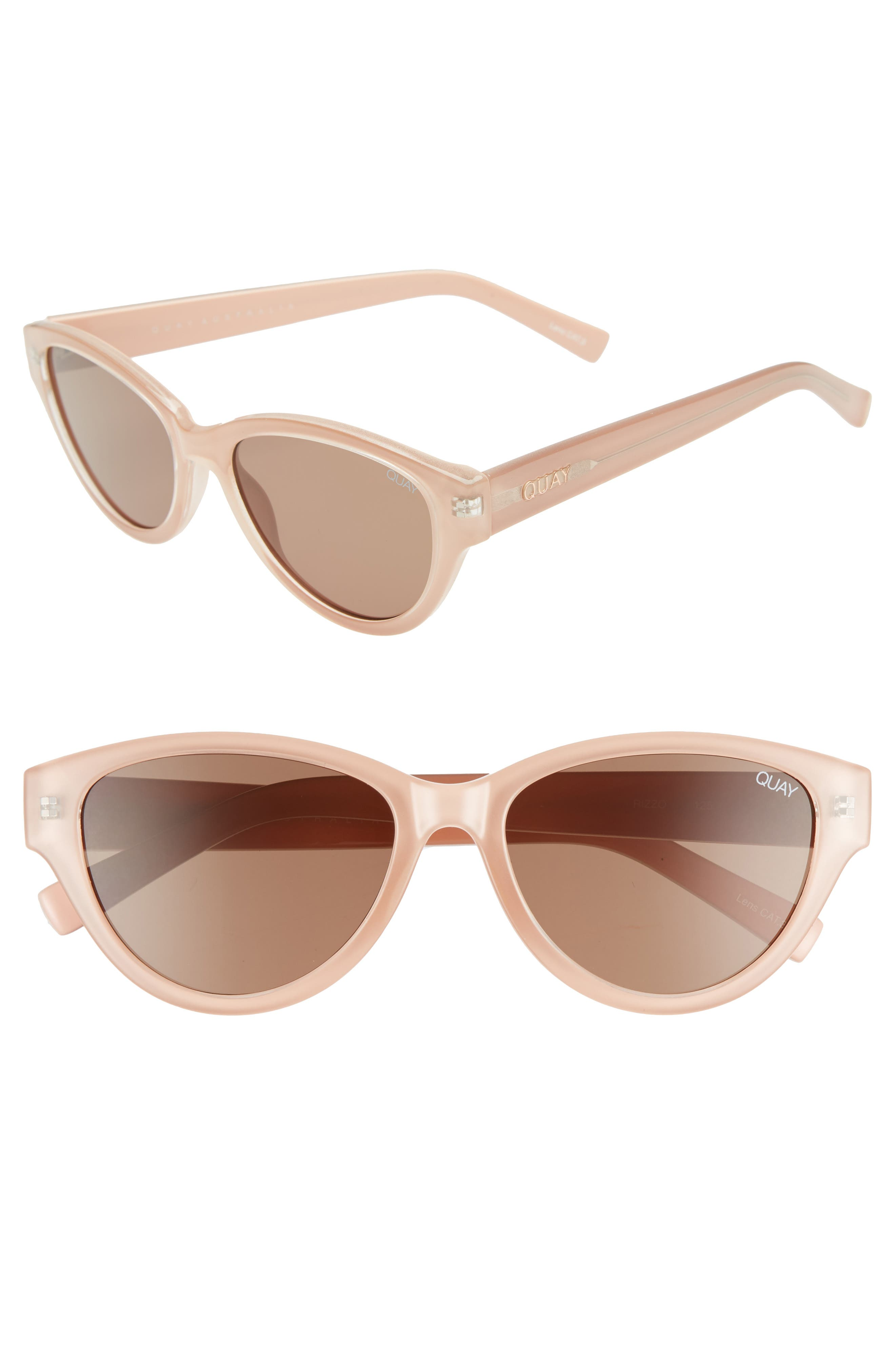 Rizzo 55mm Cat Eye Sunglasses,                             Main thumbnail 1, color,                             CREAM/ BROWN