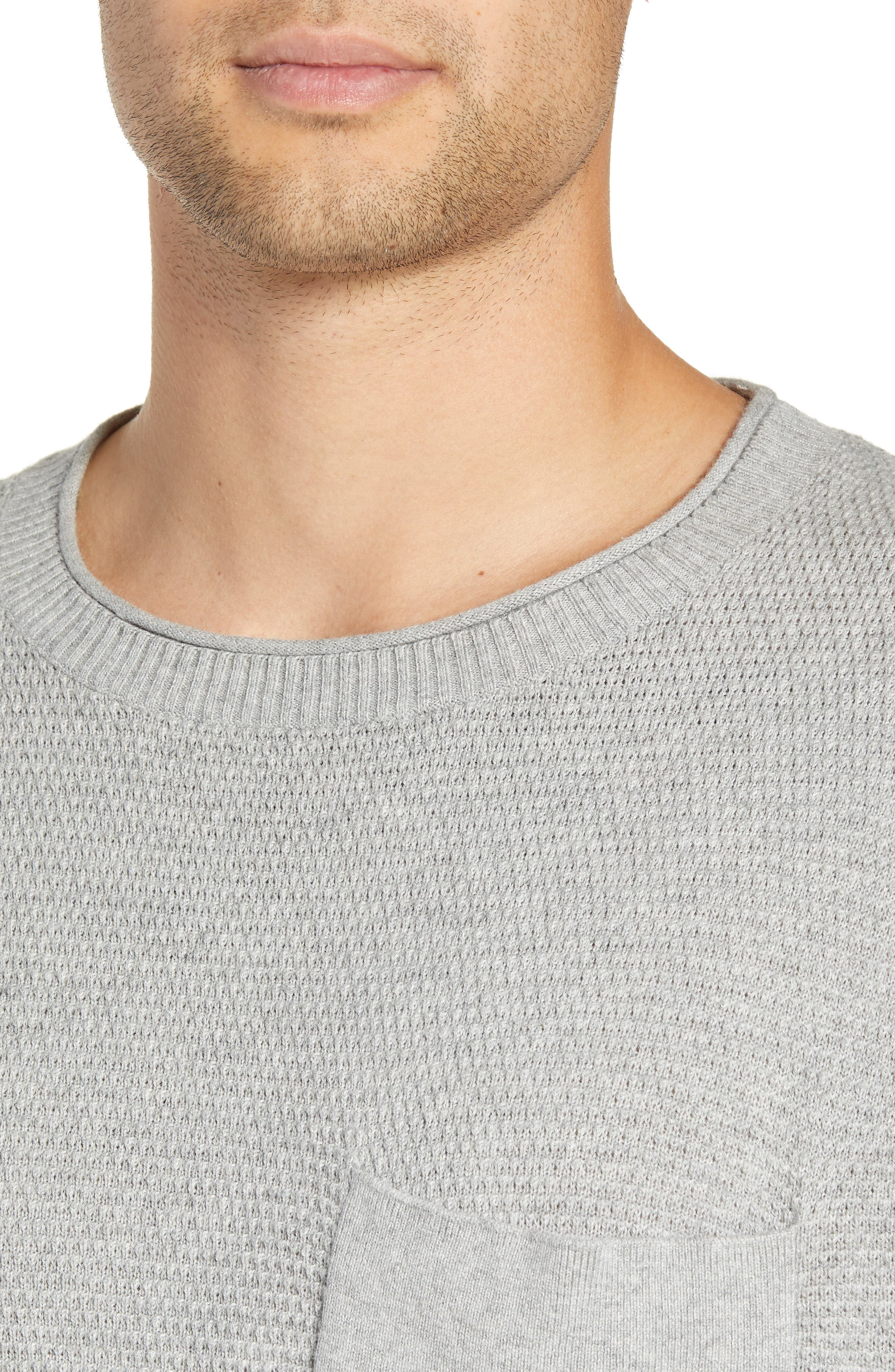 Kevin Sweater,                             Alternate thumbnail 4, color,                             ASH HEATHER