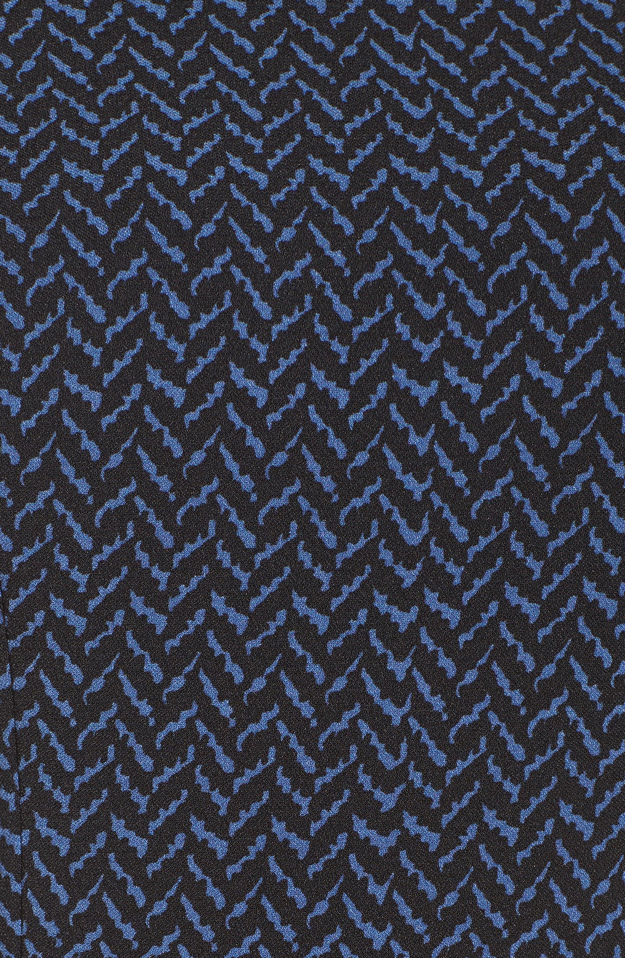 Mixed Herringbone Sheath Dress,                             Alternate thumbnail 5, color,                             400