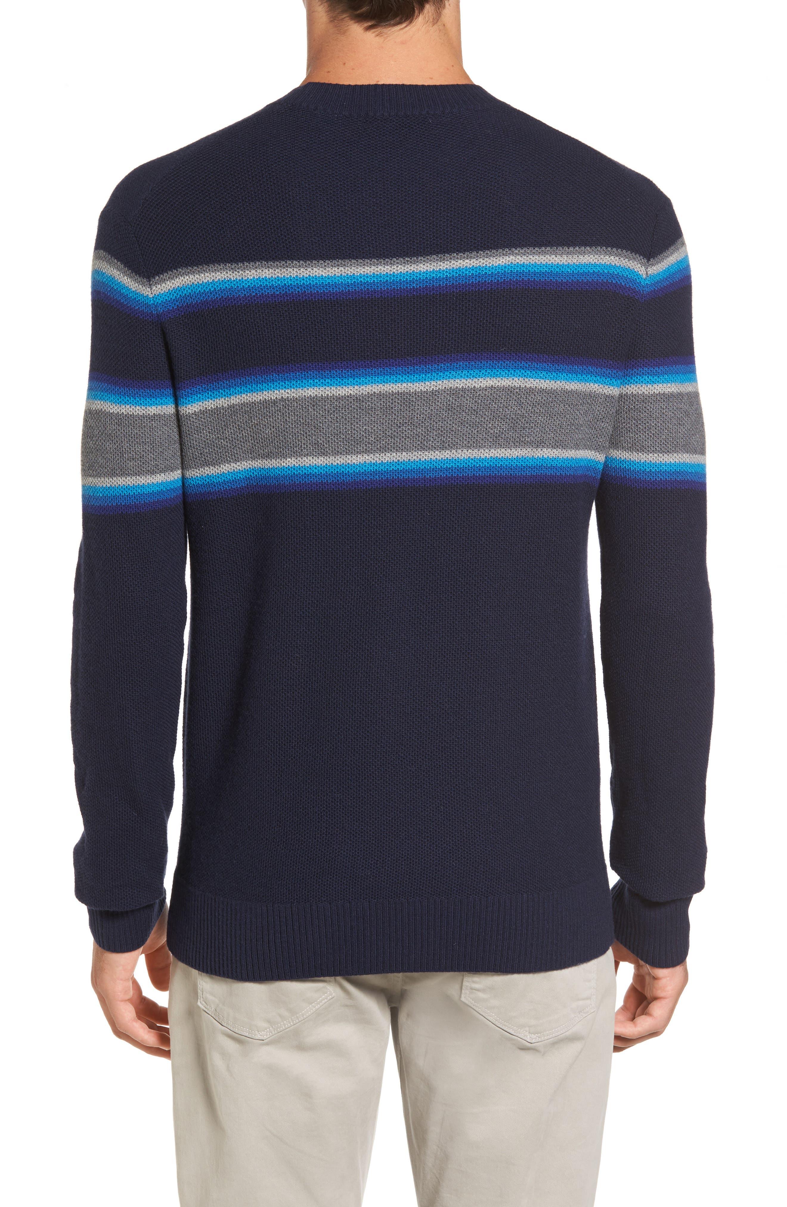 Stripe Merino Blend Sweater,                             Alternate thumbnail 2, color,                             416