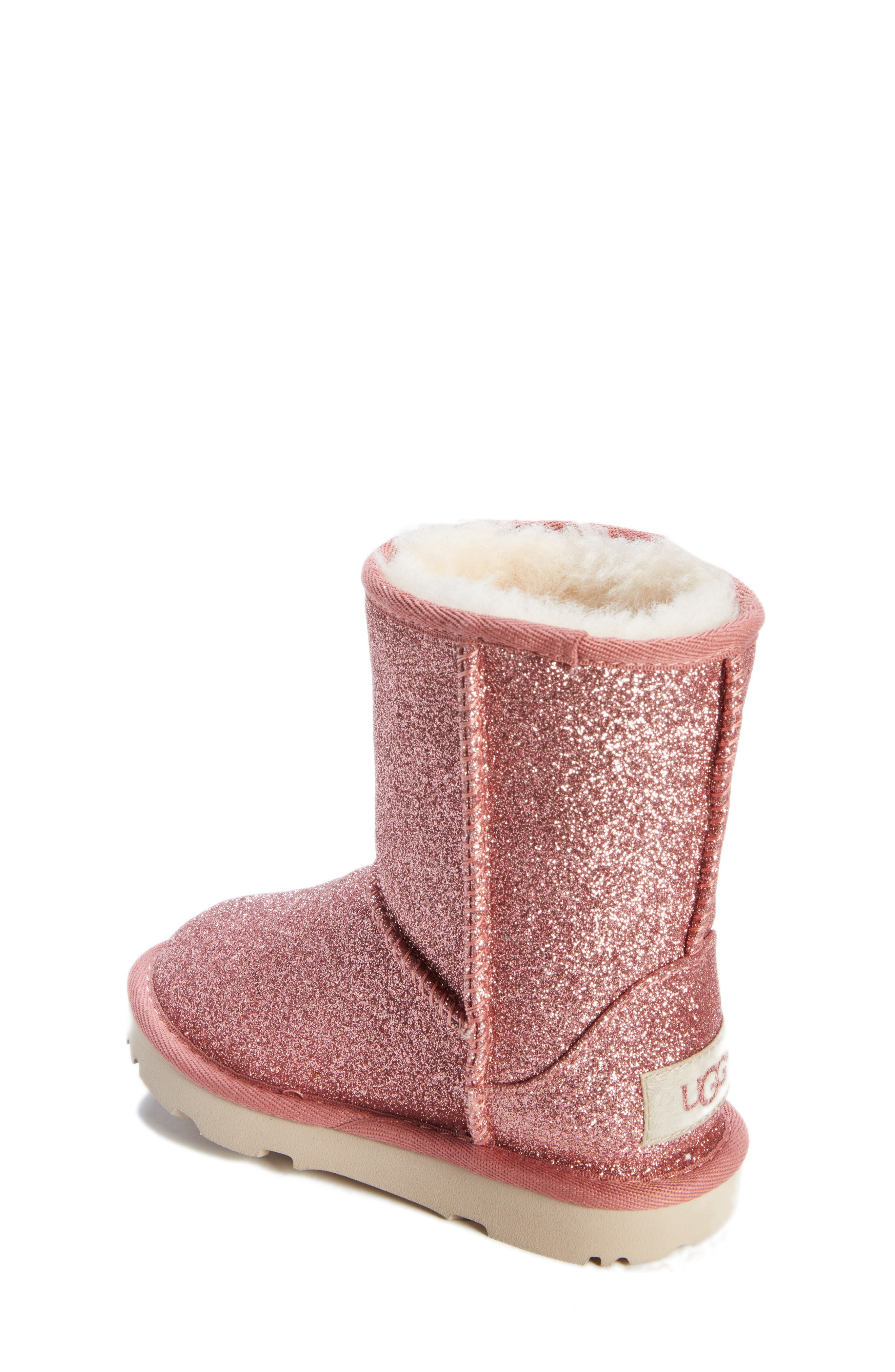 Classic Short II Glitter Bootie,                             Alternate thumbnail 2, color,                             PINK