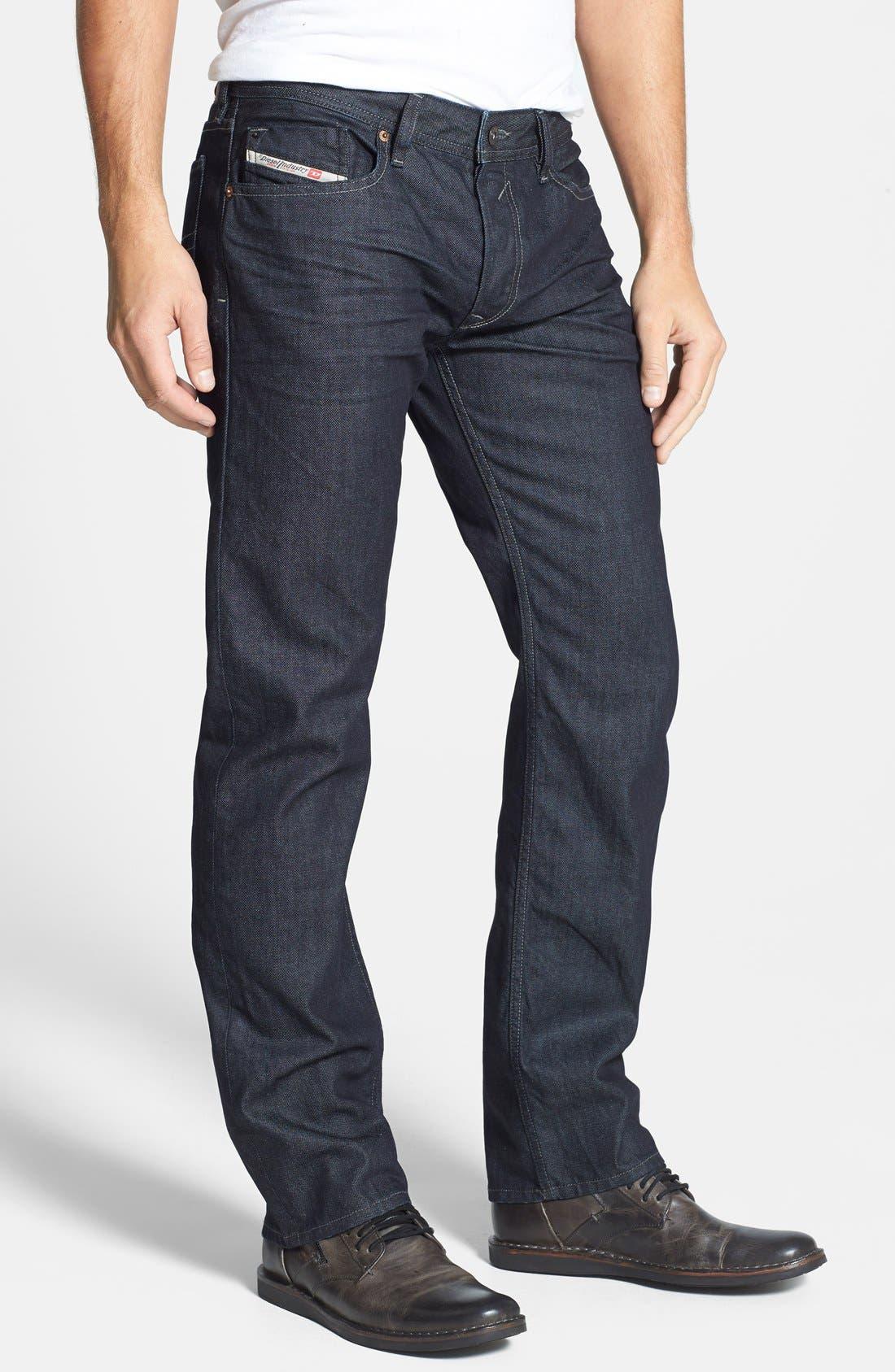 Waykee Straight Leg Jeans,                             Alternate thumbnail 4, color,