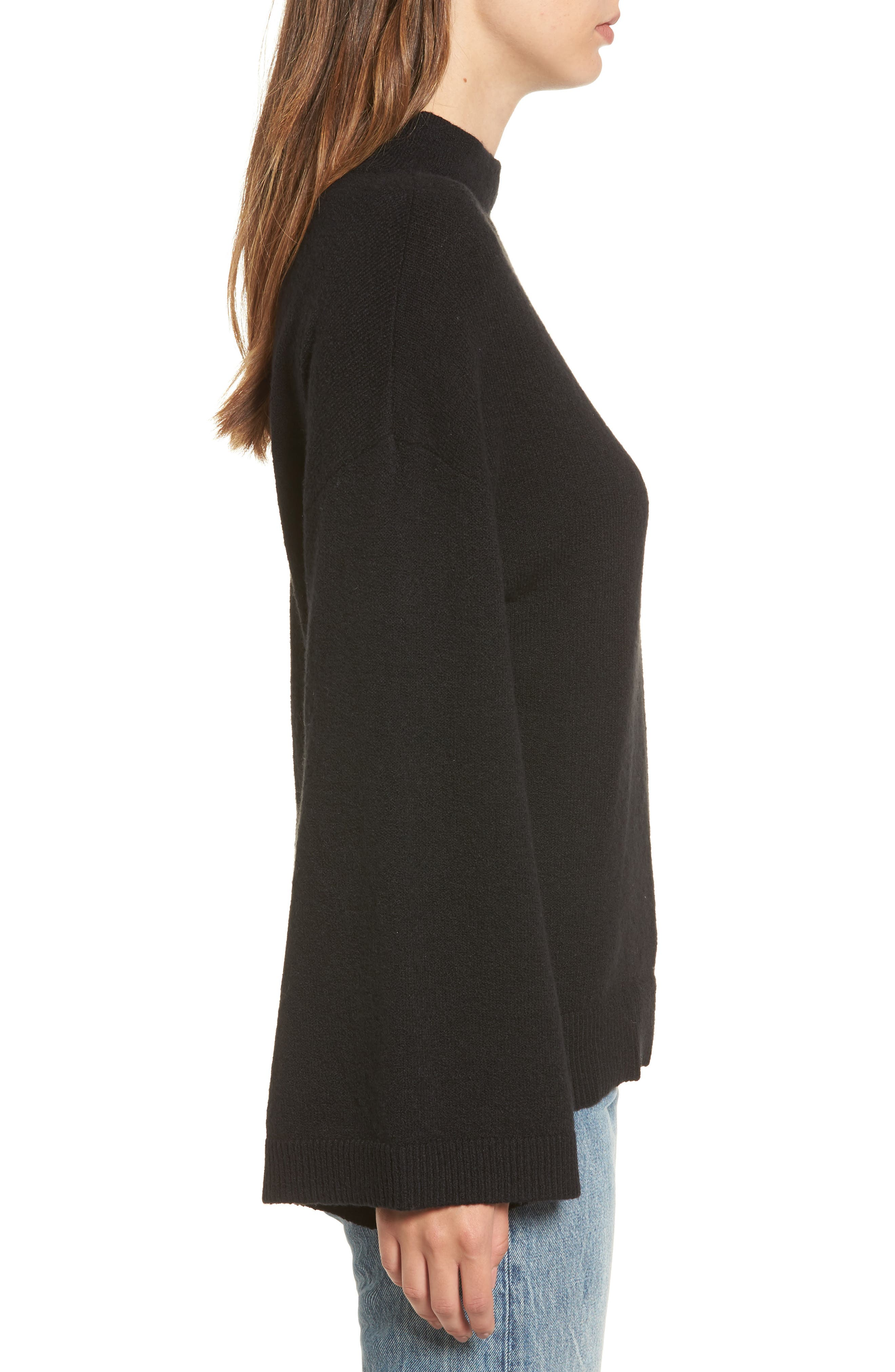 Dolman Sleeve Sweater,                             Alternate thumbnail 3, color,                             001