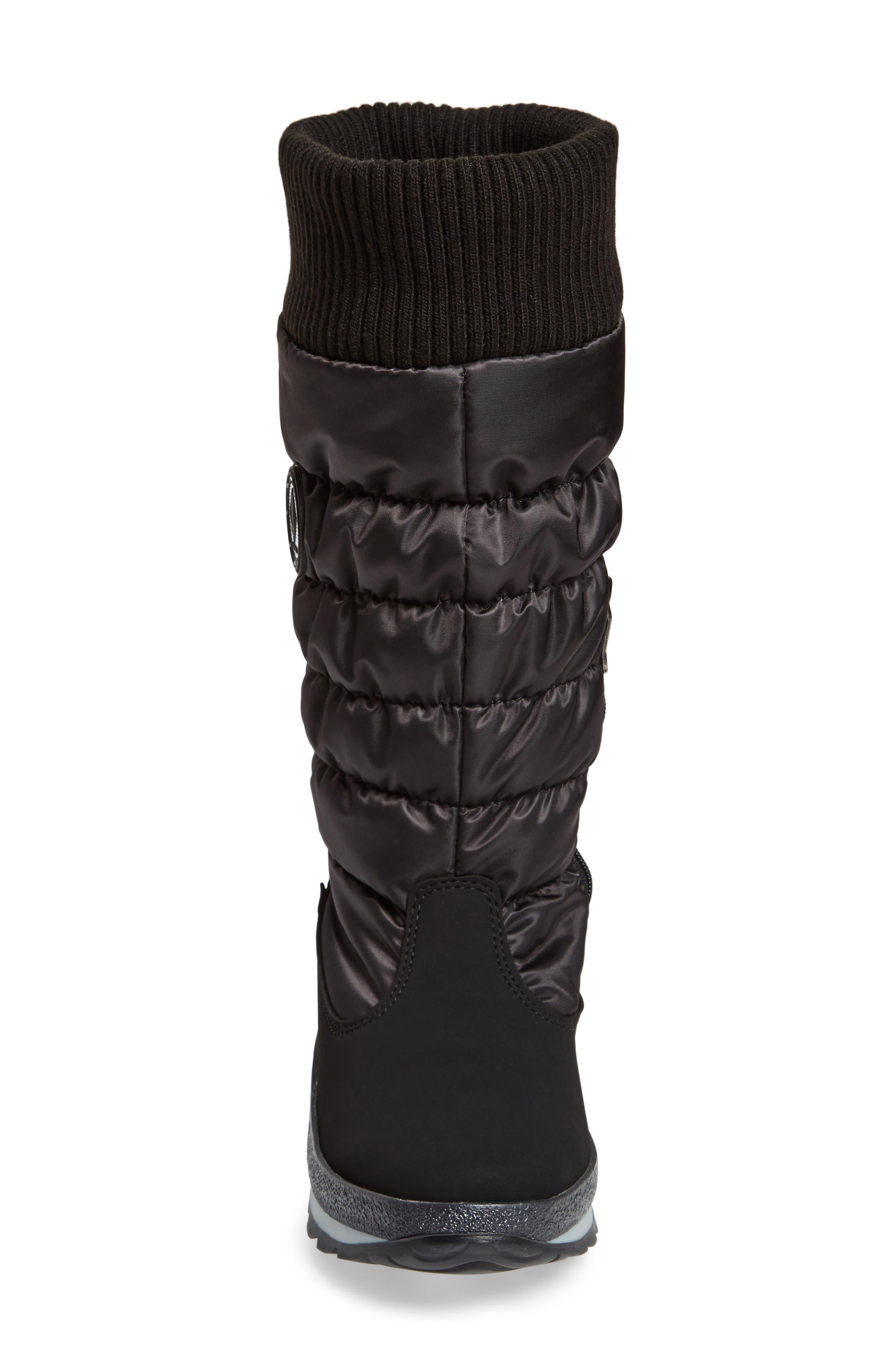 St. Anton Waterproof Winter Boot,                             Alternate thumbnail 4, color,                             BLACK/ ANTHRACITE