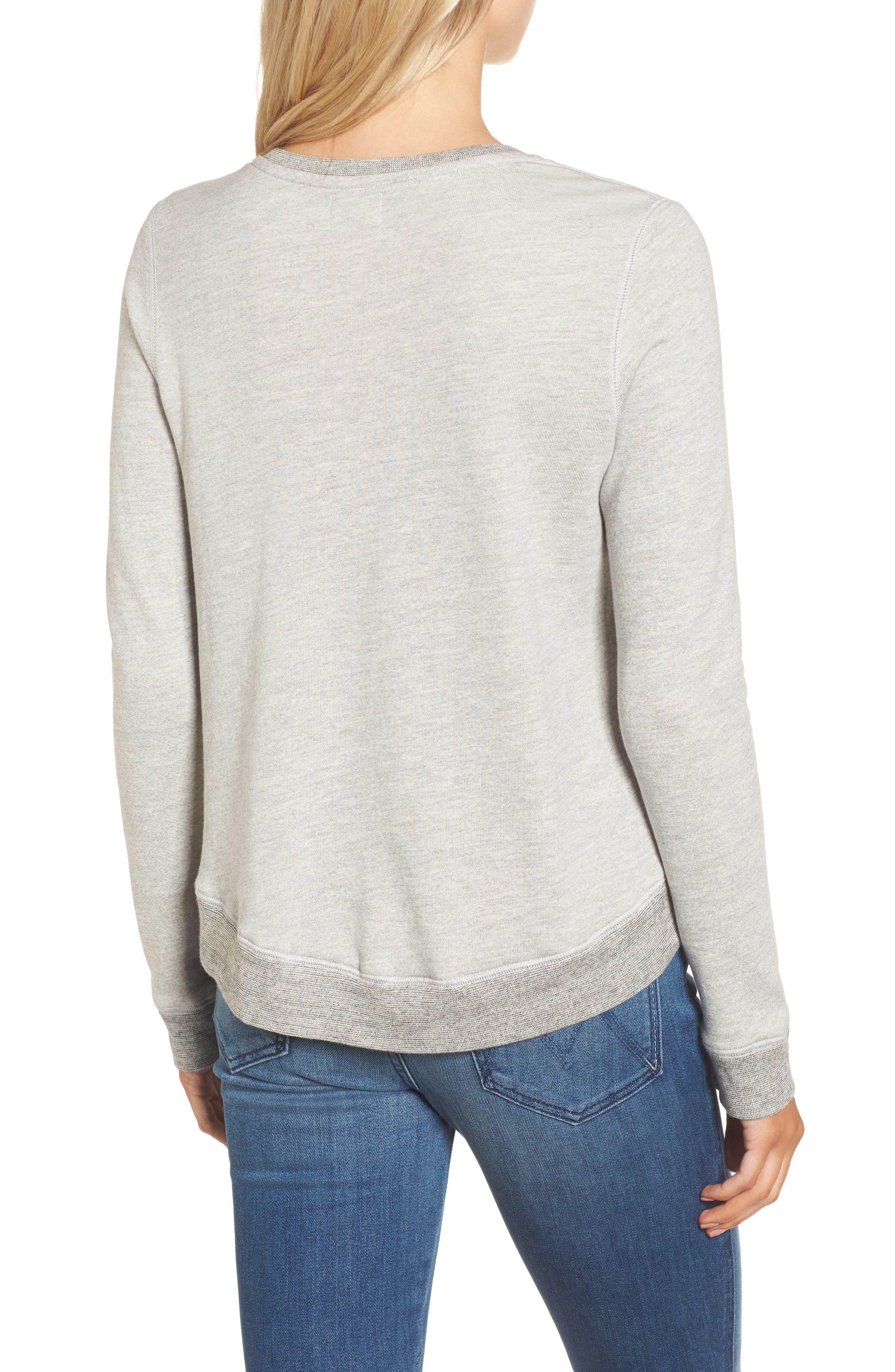 Heart Side Zip Sweatshirt,                             Alternate thumbnail 2, color,                             039
