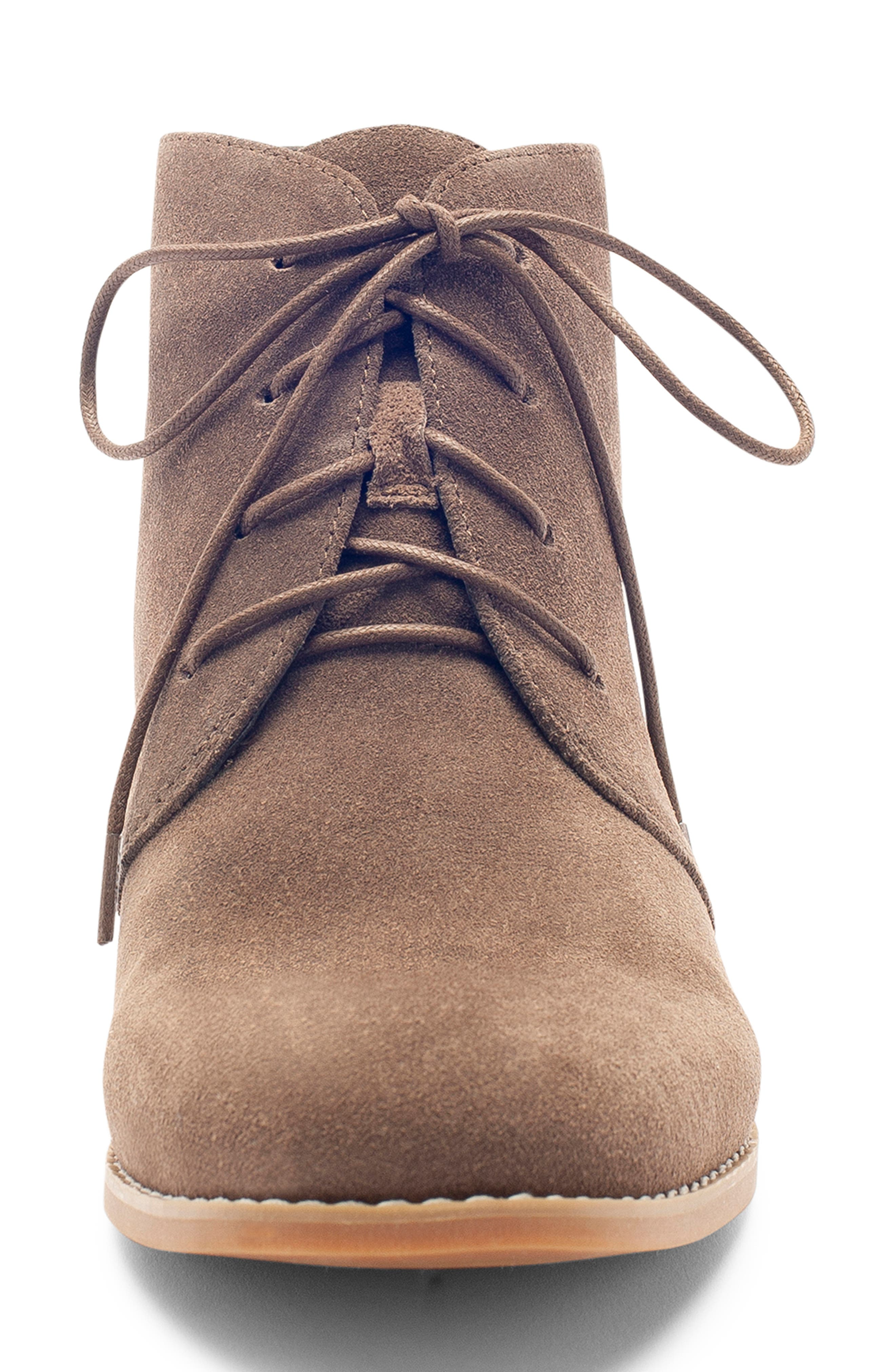 Rayann Waterproof Desert Boot,                             Alternate thumbnail 4, color,                             DARK TAUPE SUEDE