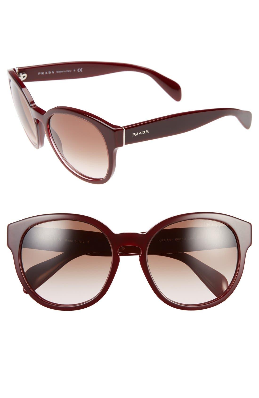 78a2a6677b52 ... spr 26q f female inexpensive prada 56mm keyhole sunglasses nordstrom  a1e86 1a6e2 ...
