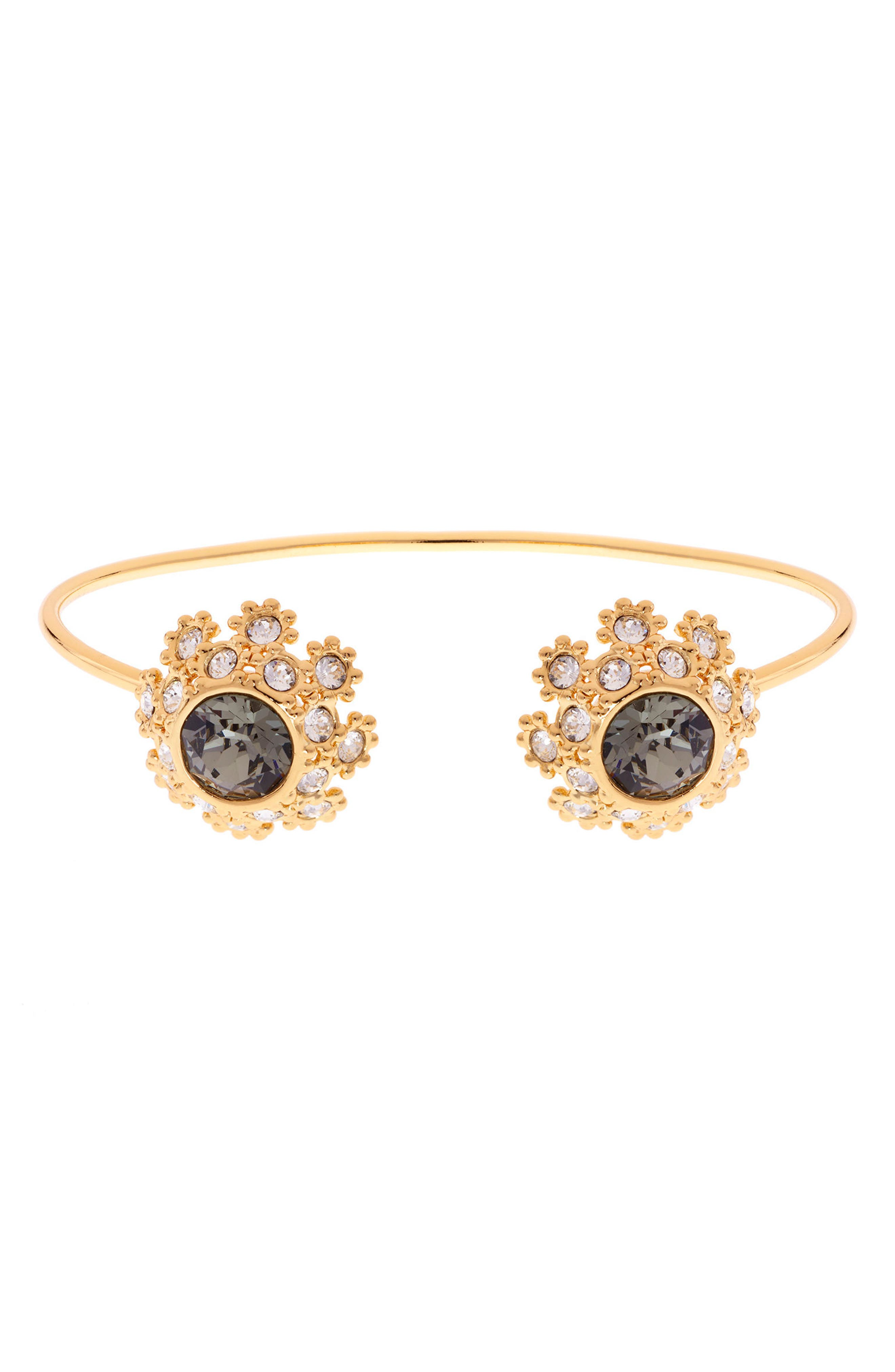 Crystal Daisy Lace Cuff Bracelet,                         Main,                         color, 009