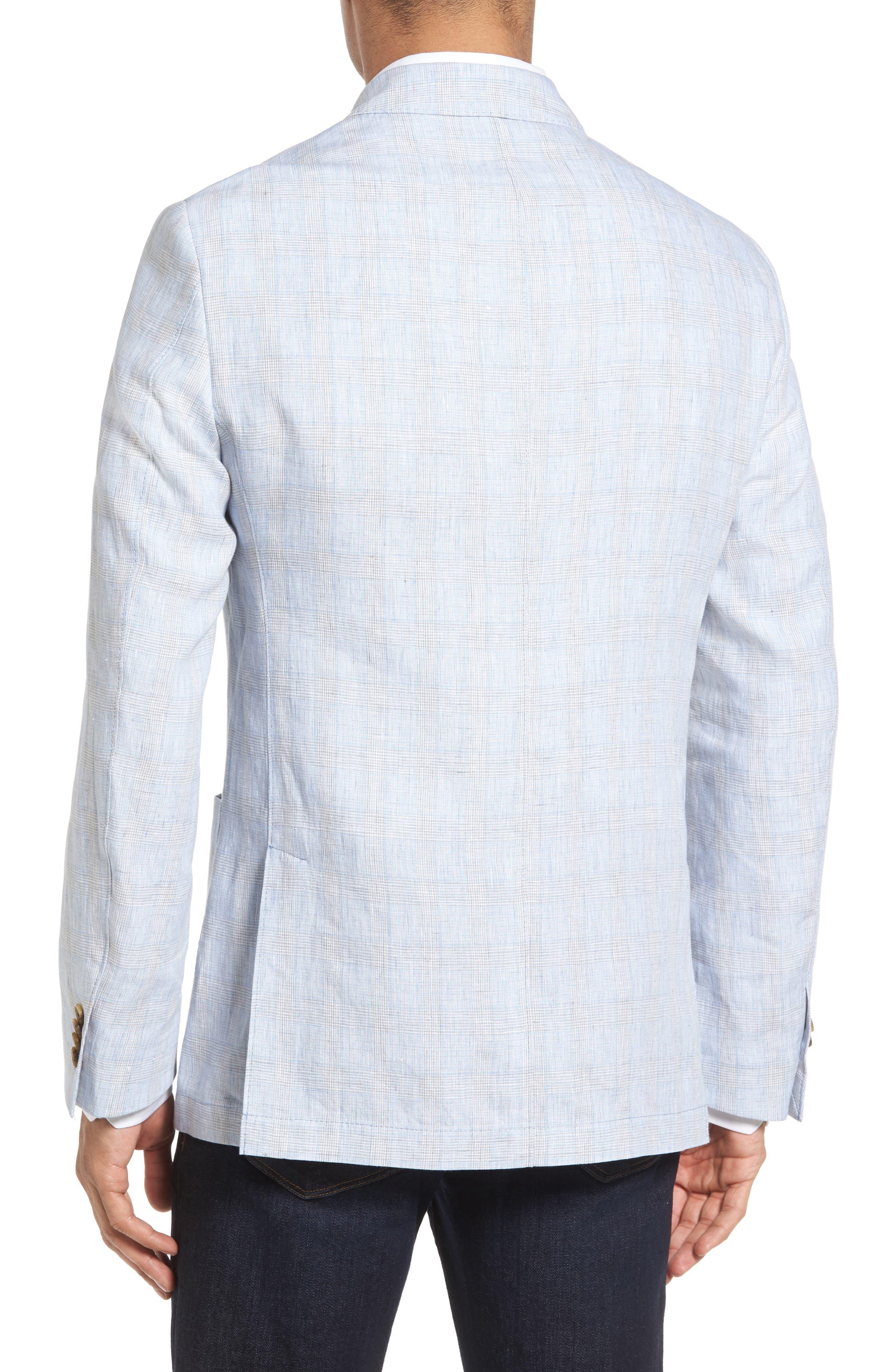 Glen Plaid Linen Sport Coat,                             Alternate thumbnail 2, color,