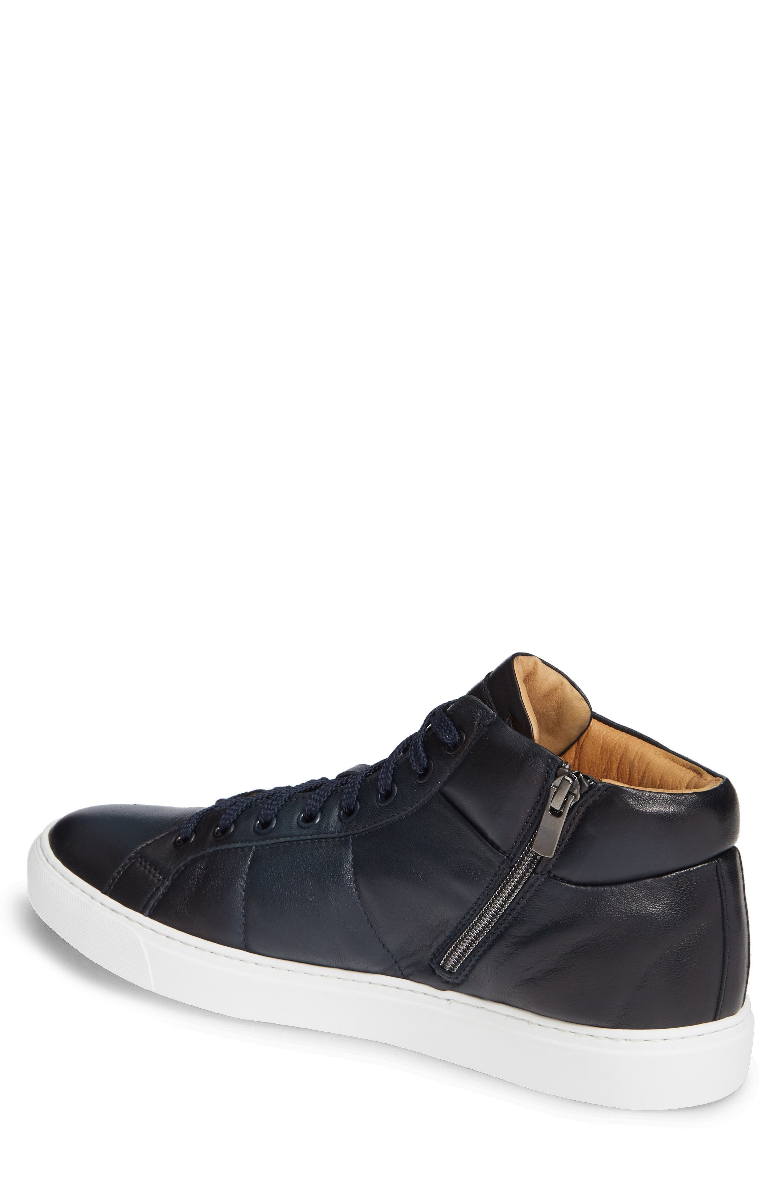 Rayburn Mid Top Sneaker,                             Alternate thumbnail 2, color,                             NAVY LEATHER