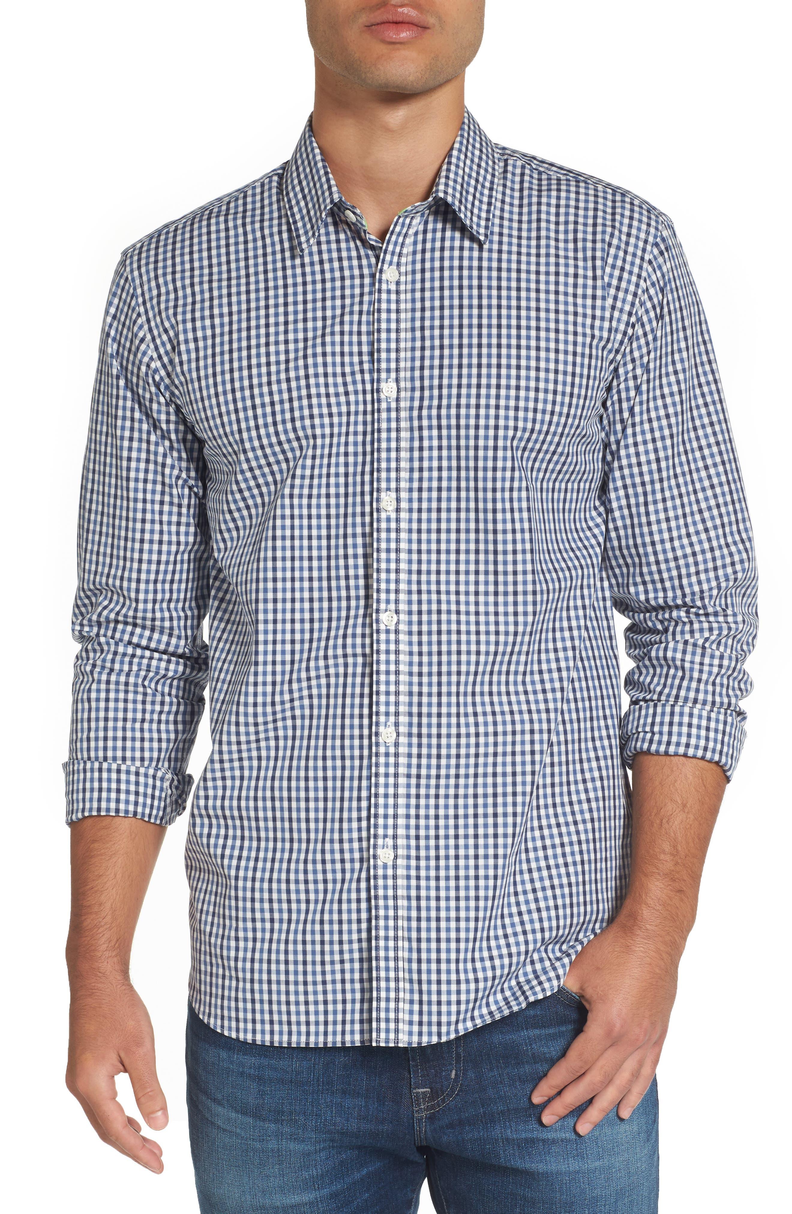 Comfort Fit Check Sport Shirt,                         Main,                         color, 424