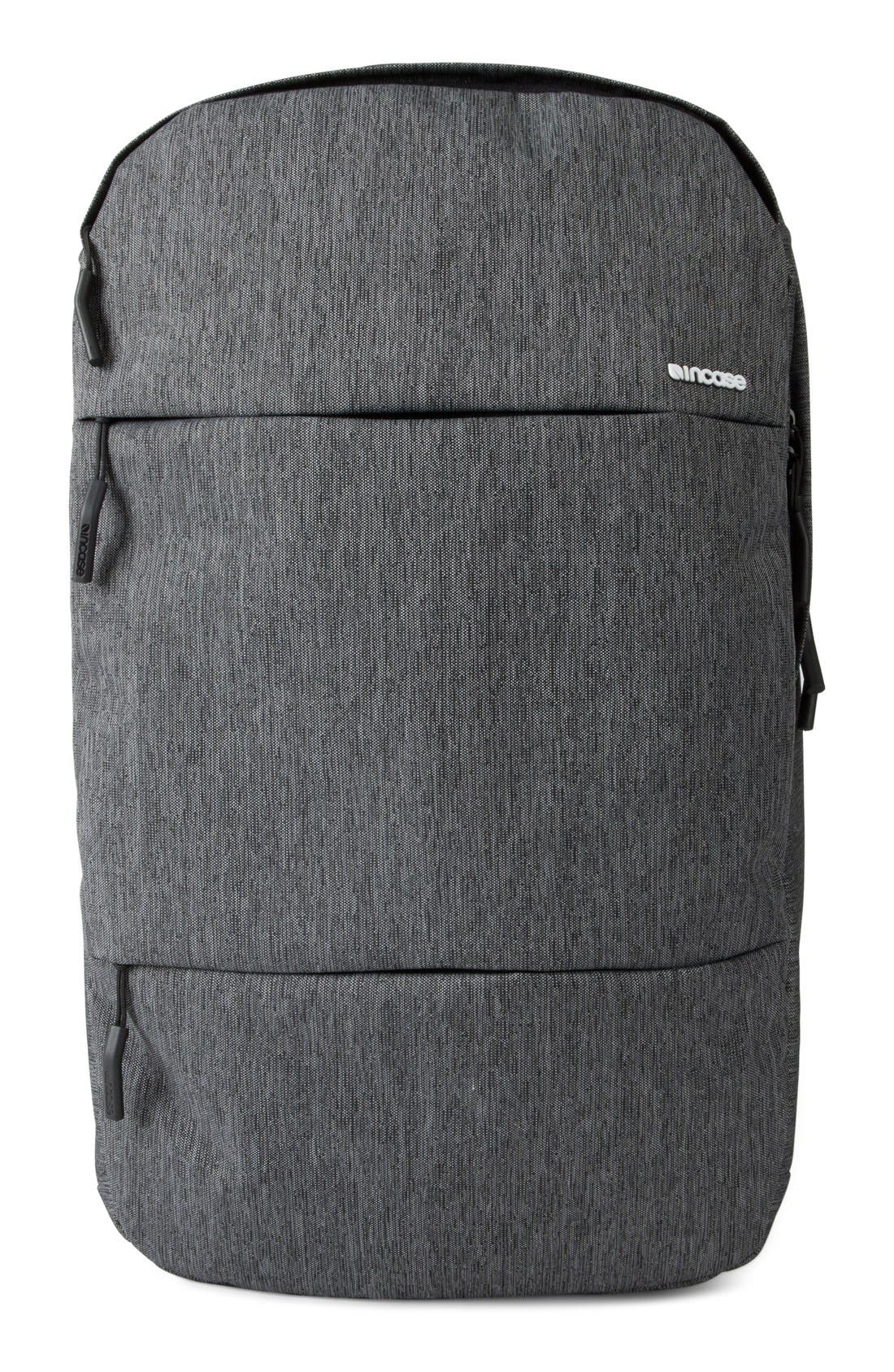 City Collection Backpack,                         Main,                         color, HEATHER BLACK/ GUNMETAL GREY