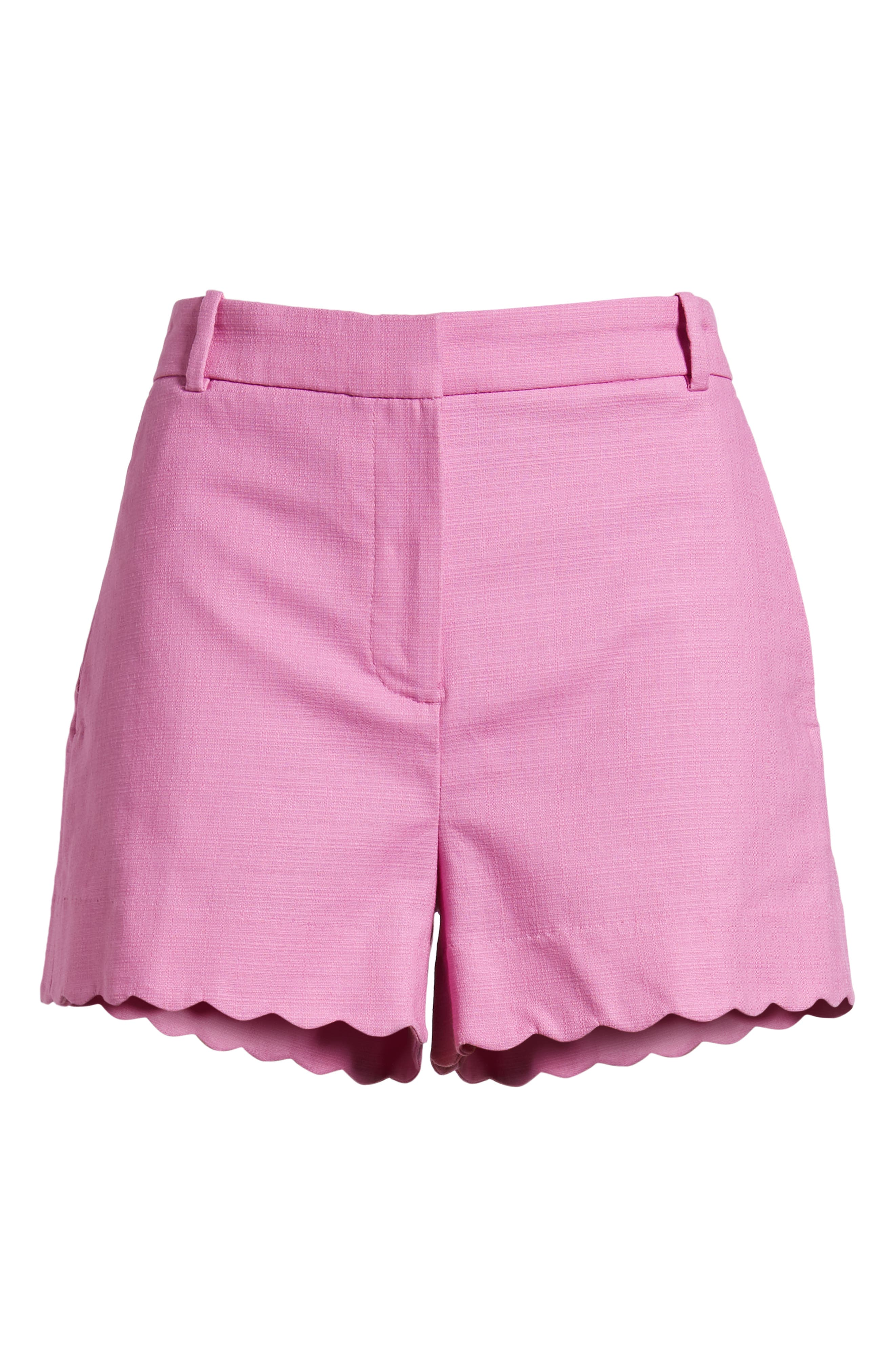 Fiesta Scallop Hem Stretch Cotton Shorts,                             Alternate thumbnail 12, color,