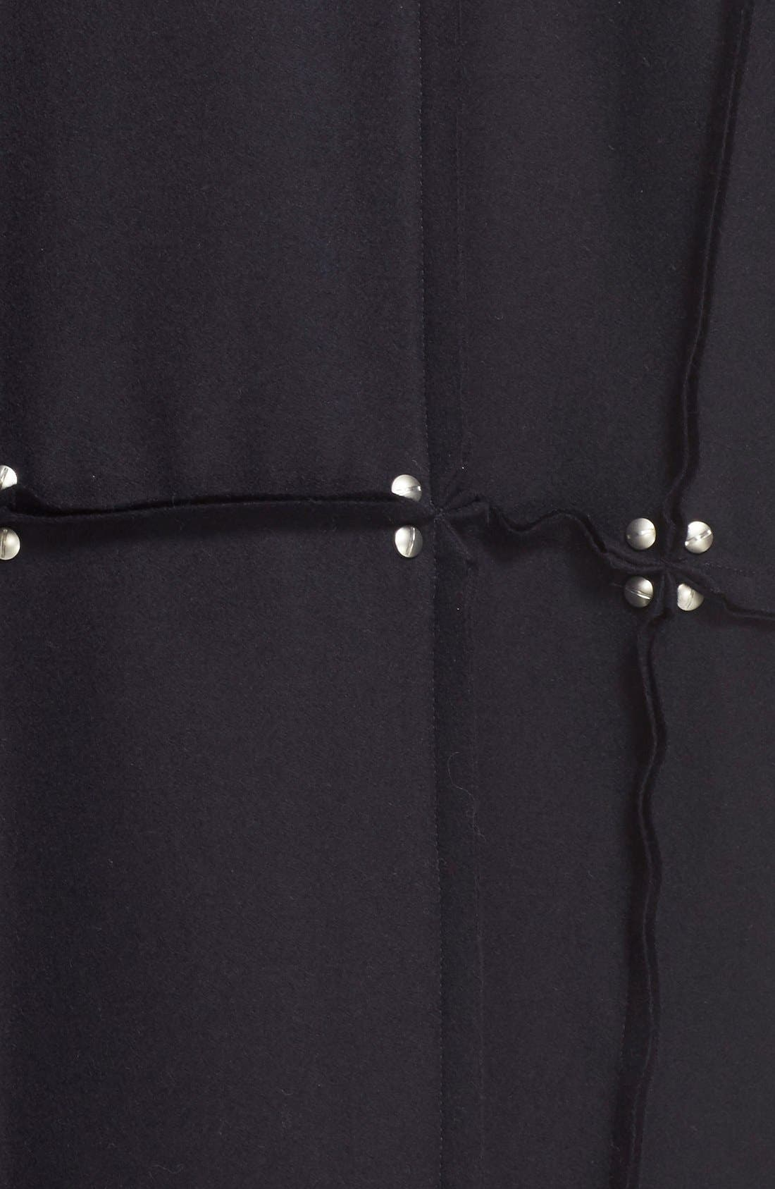 Rivet Detail Paneled Wool Coat,                             Alternate thumbnail 2, color,                             410