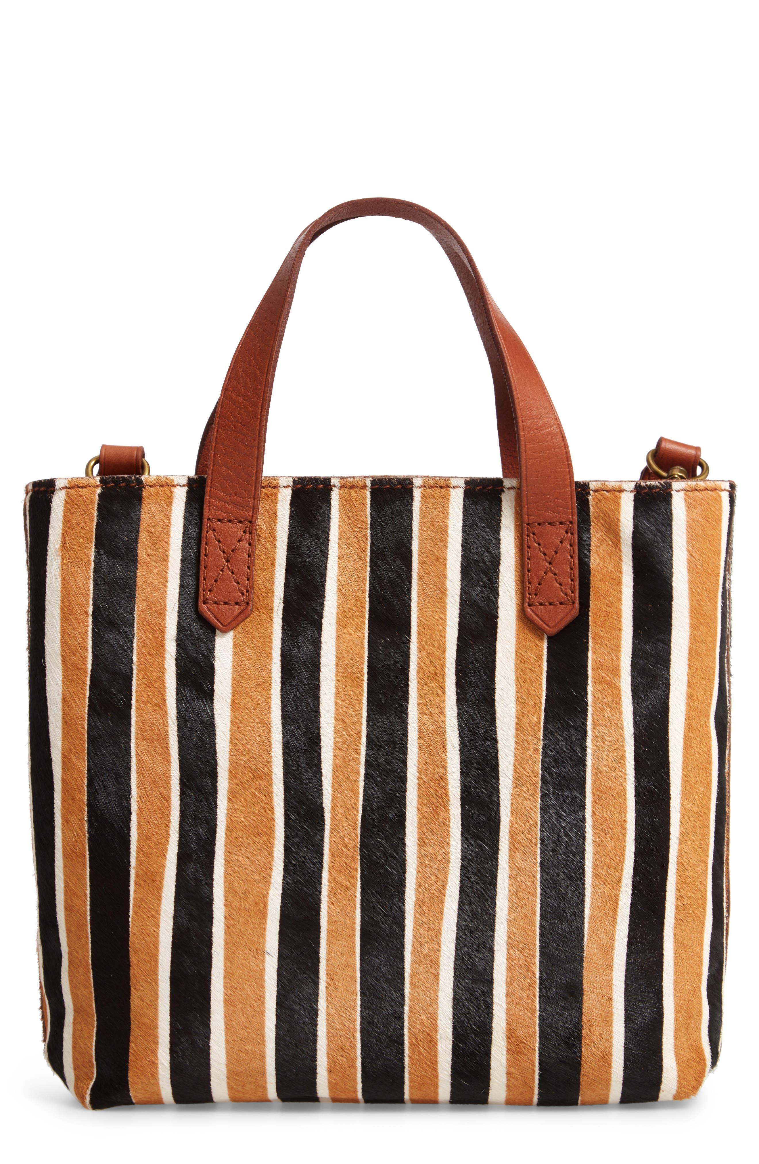The Small Transport Genuine Calf Hair Crossbody Bag,                             Main thumbnail 1, color,                             ACORN MULTI