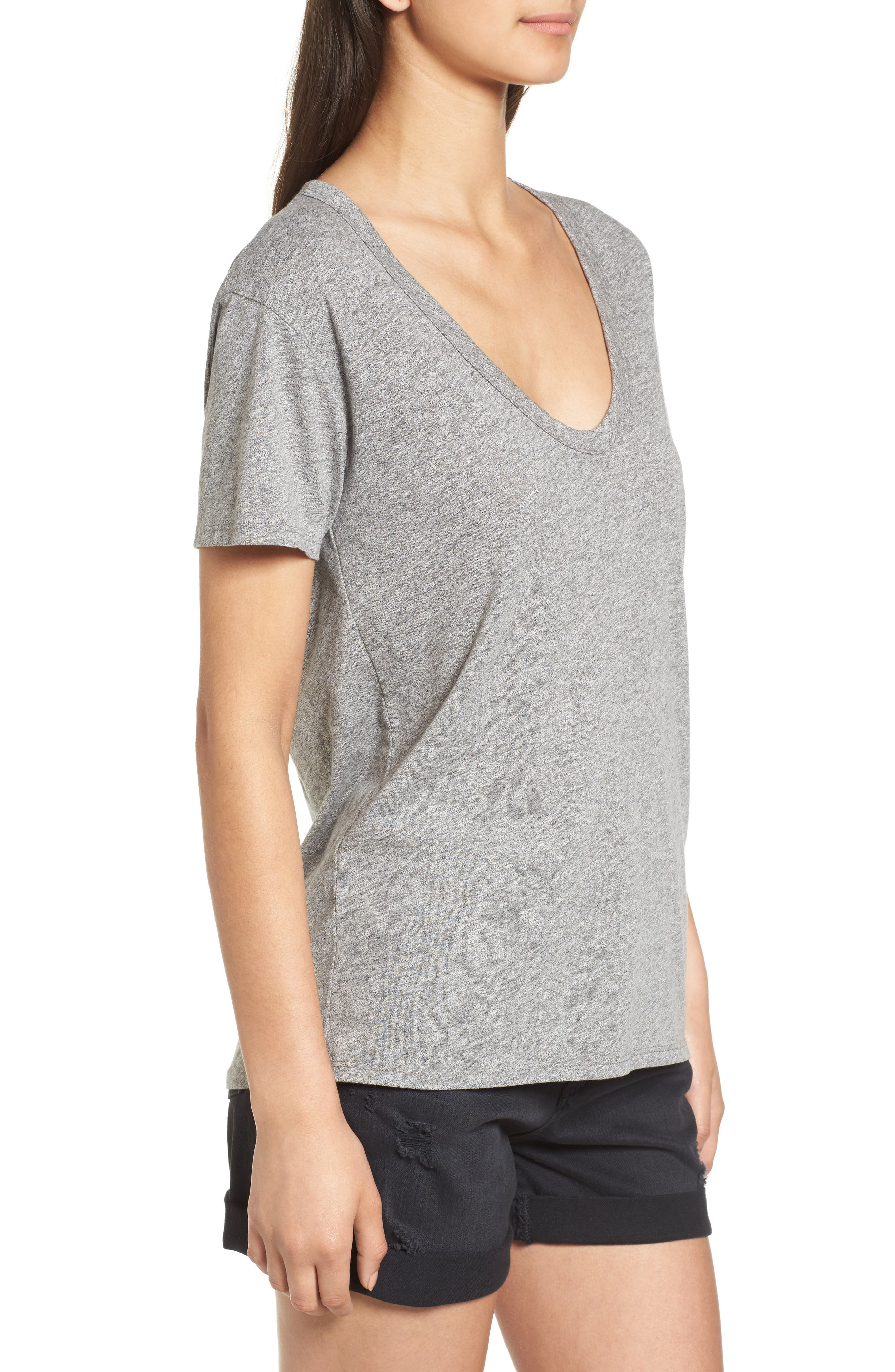 Henson Tee,                             Alternate thumbnail 3, color,                             SPECKLED HEATHER GREY