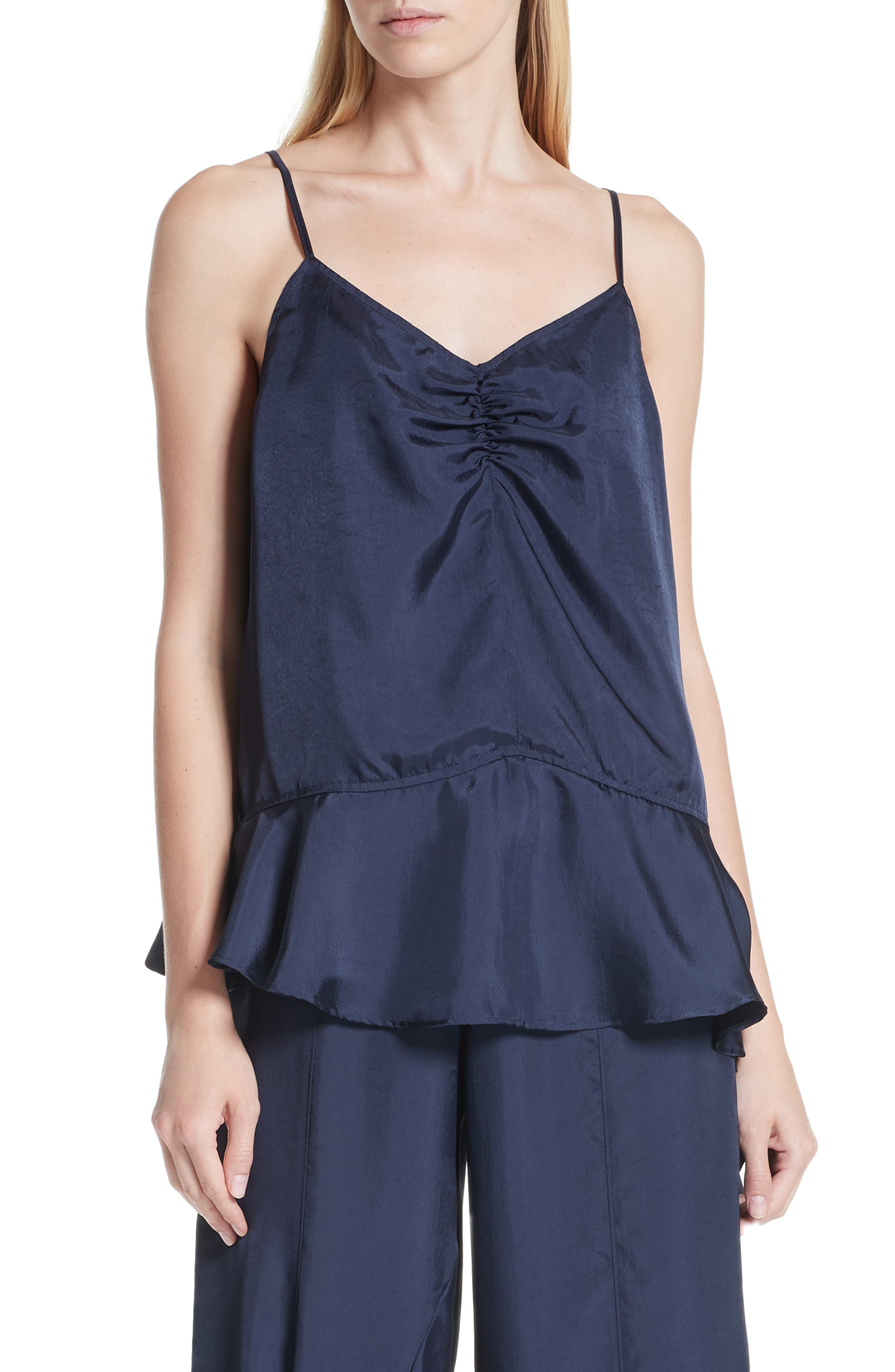 Asymmetrical Hem Camisole,                             Main thumbnail 1, color,                             401