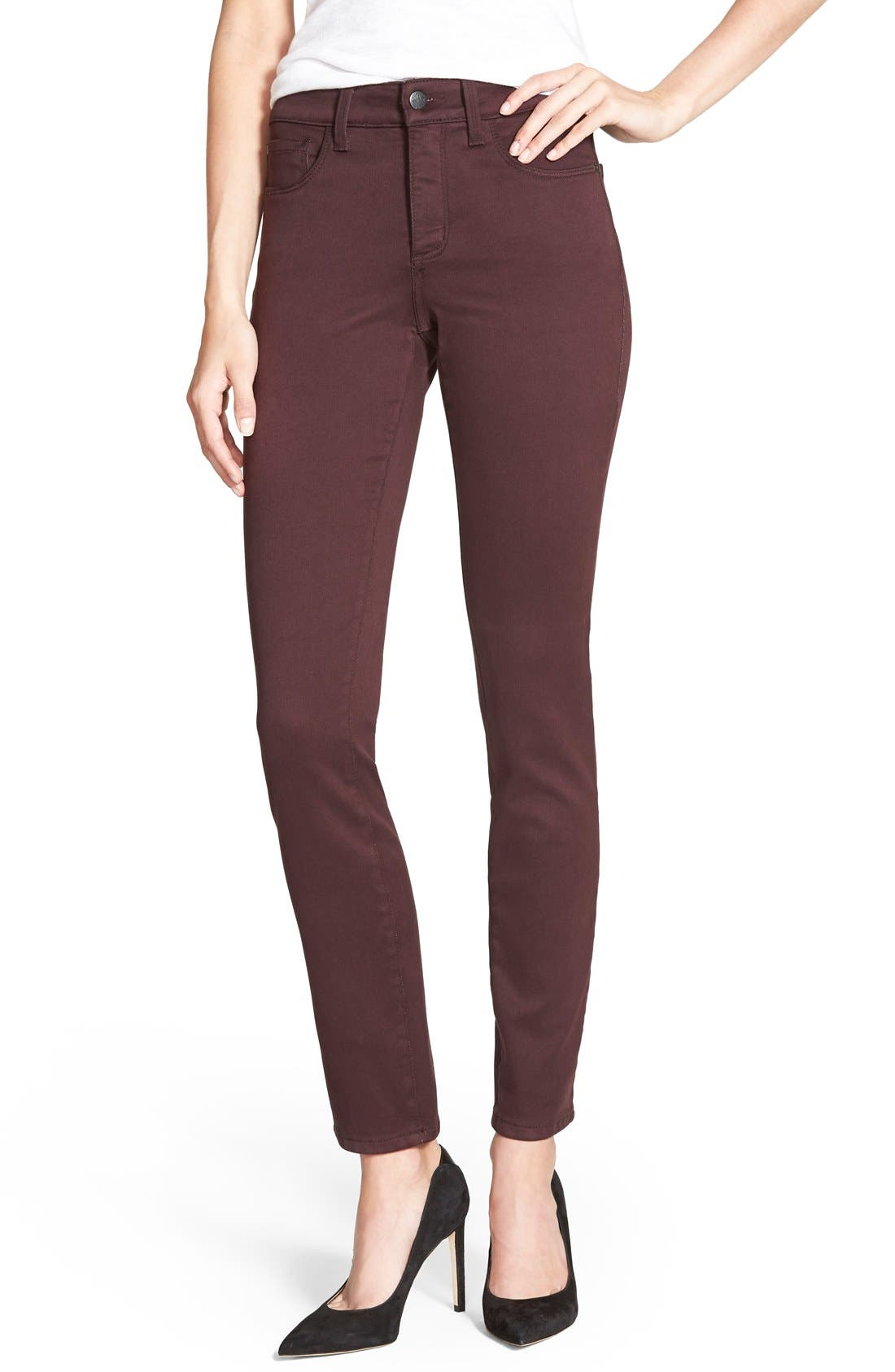 Alina Colored Stretch Skinny Jeans,                             Main thumbnail 36, color,