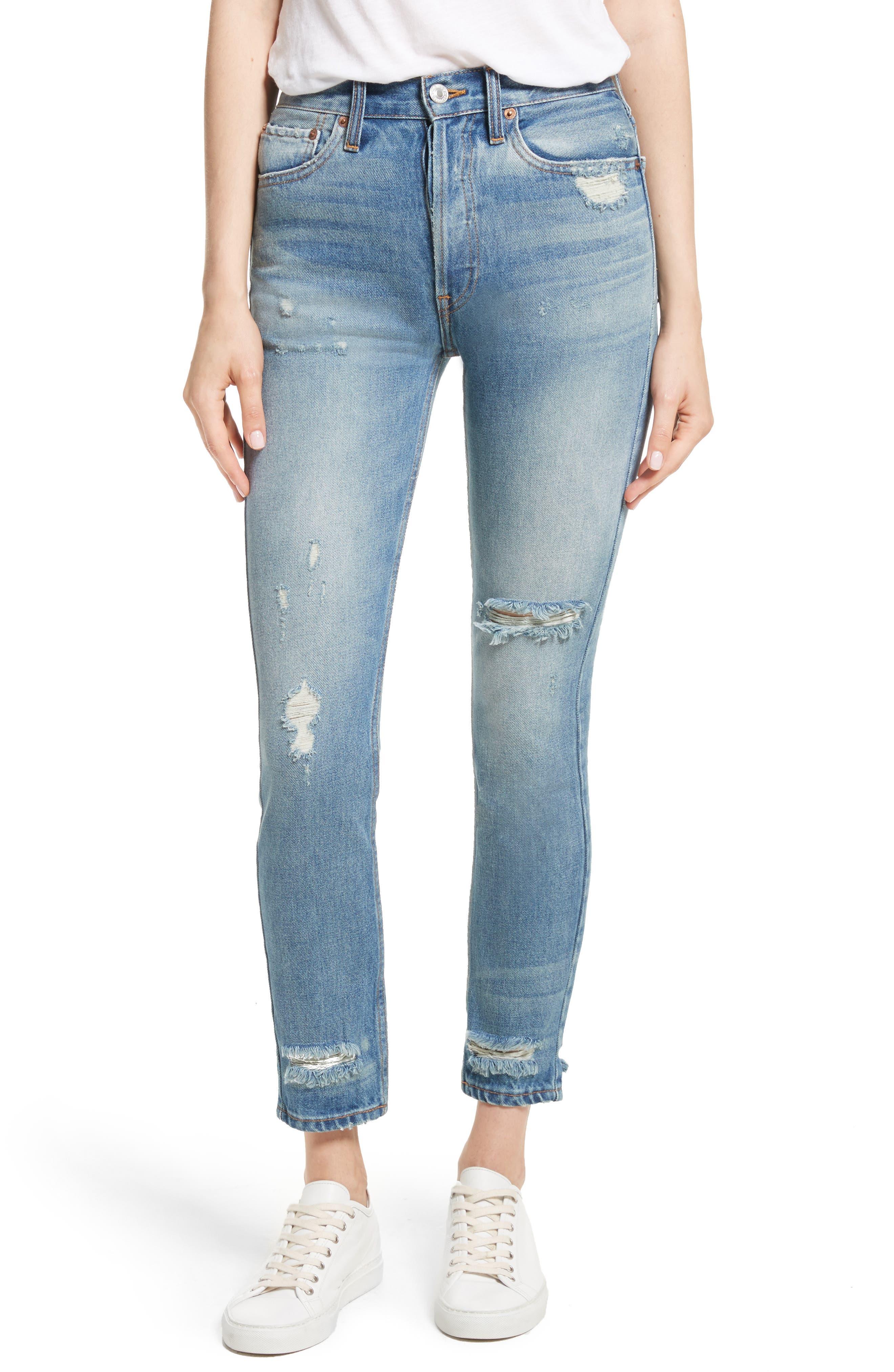 Originals High Waist Jeans,                         Main,                         color, 401