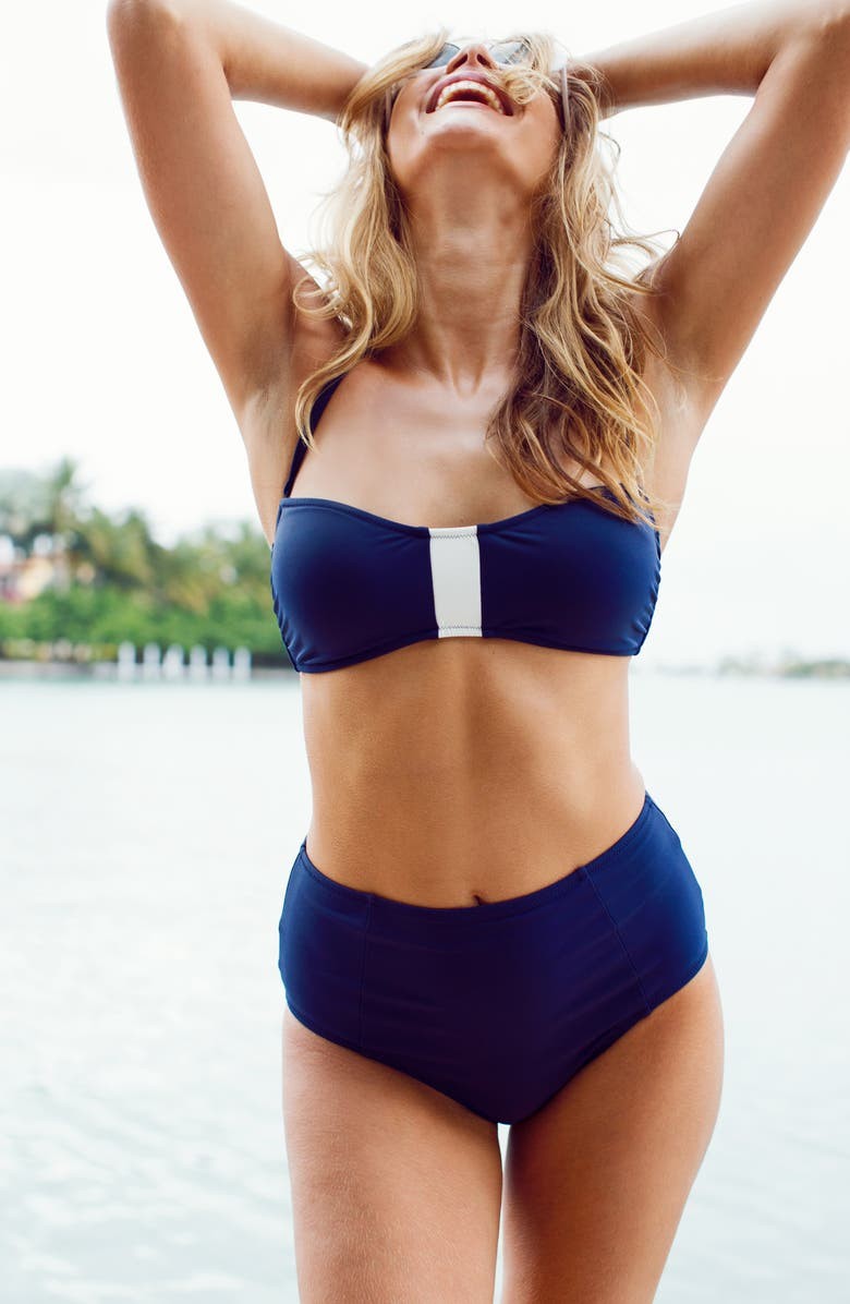 LIVELY The Colorblock Bandeau Swim Top   Nordstrom